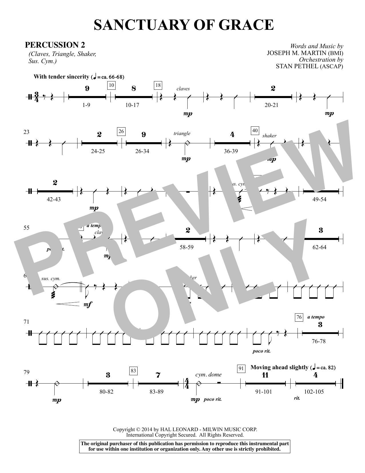 Sanctuary Of Grace (from Sanctuary) - Percussion 2 (Choir Instrumental Pak)