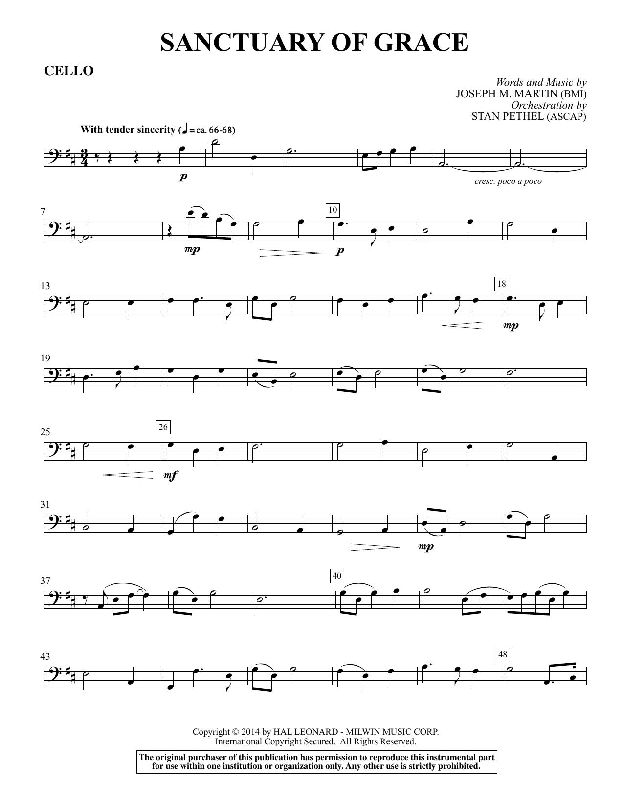 Sanctuary Of Grace (from Sanctuary) - Cello (Choir Instrumental Pak)