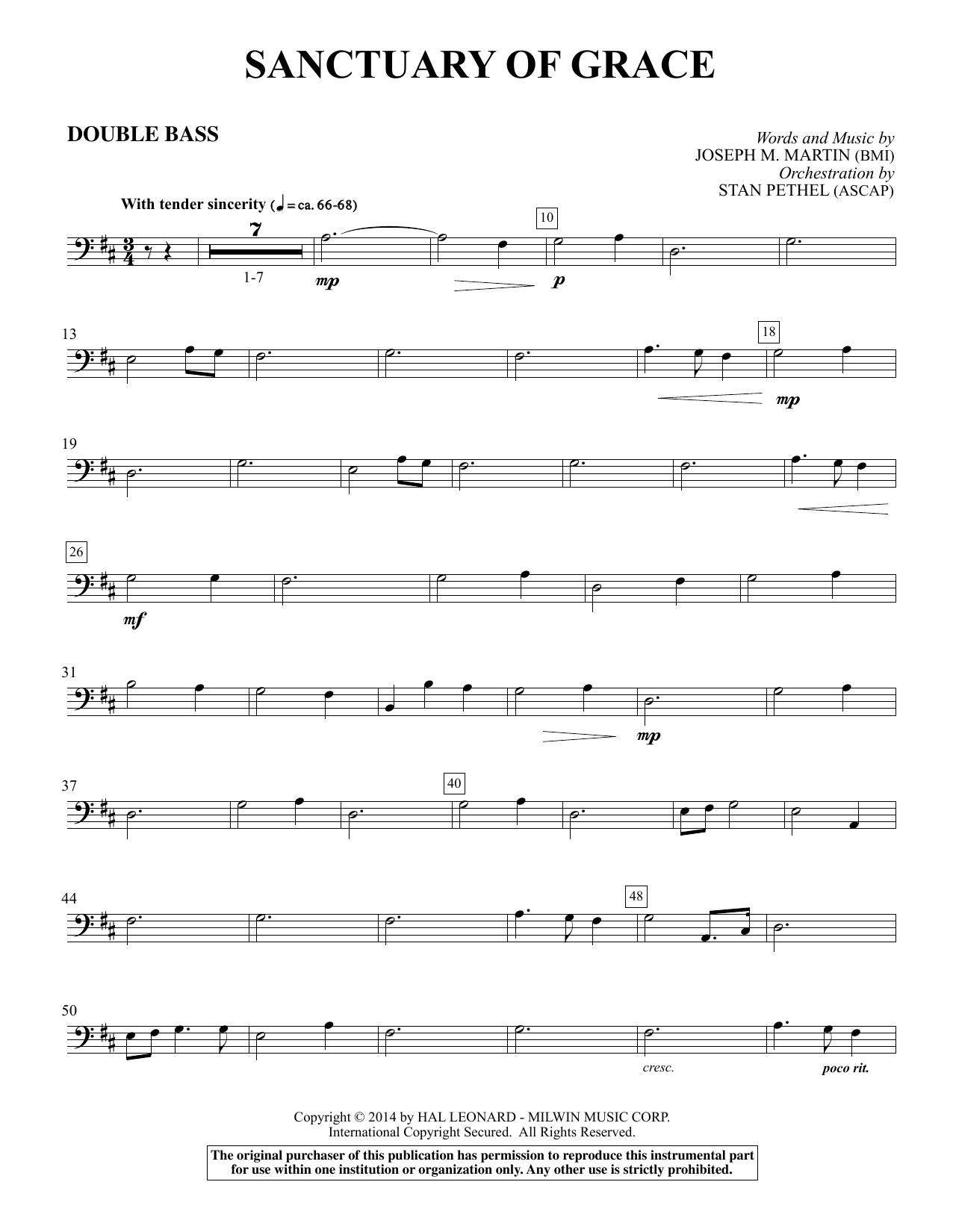 Sanctuary Of Grace (from Sanctuary) - Double Bass (Choir Instrumental Pak)