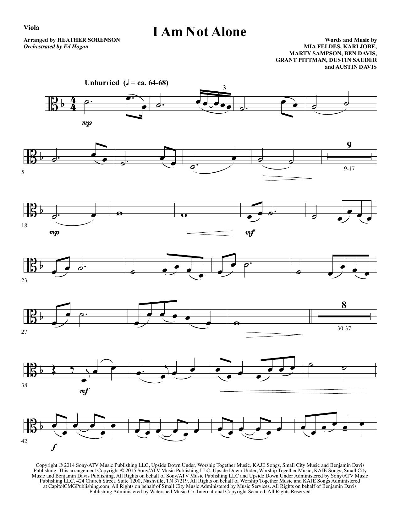 I Am Not Alone - Viola Sheet Music