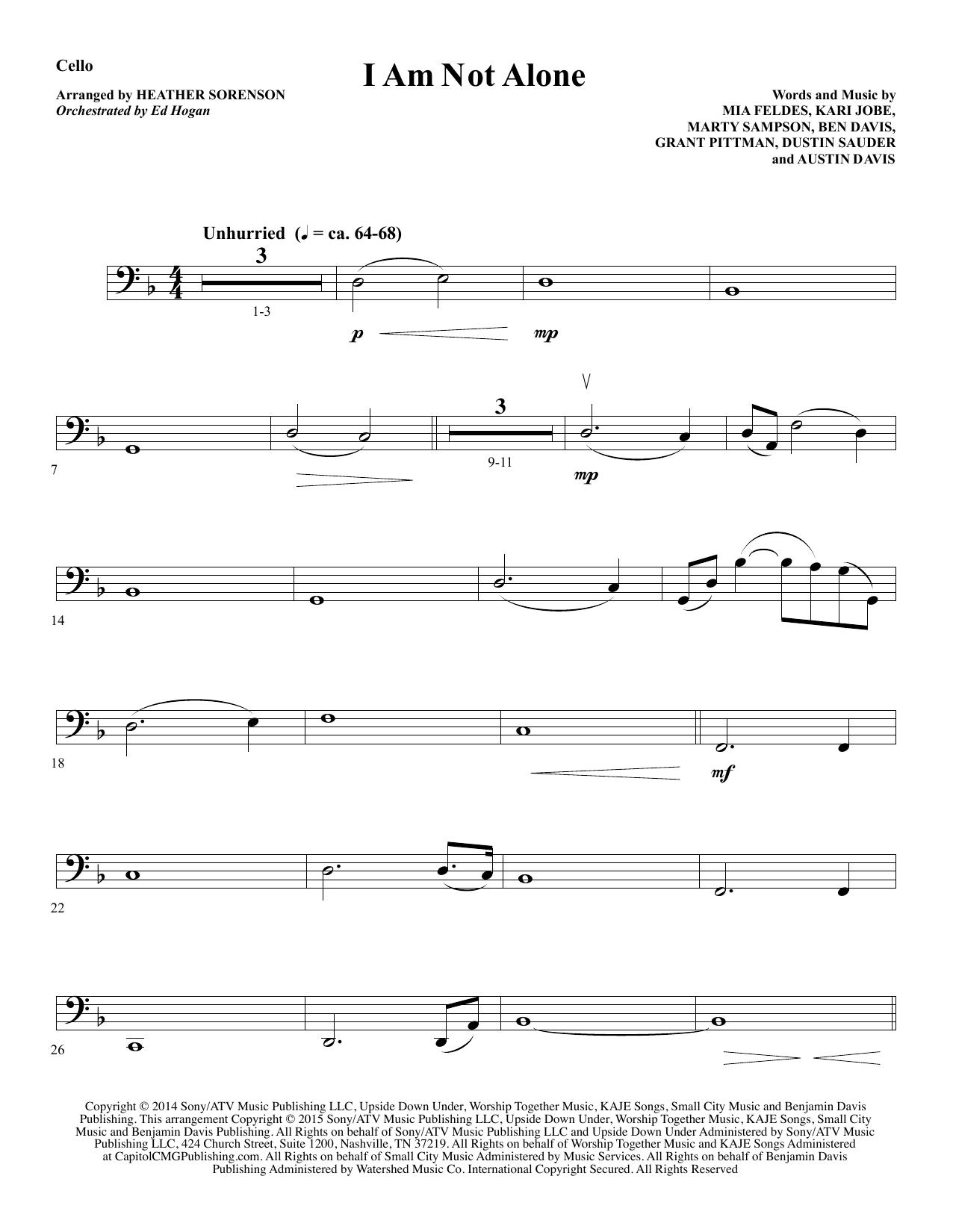 i am not alone sheet music pdf