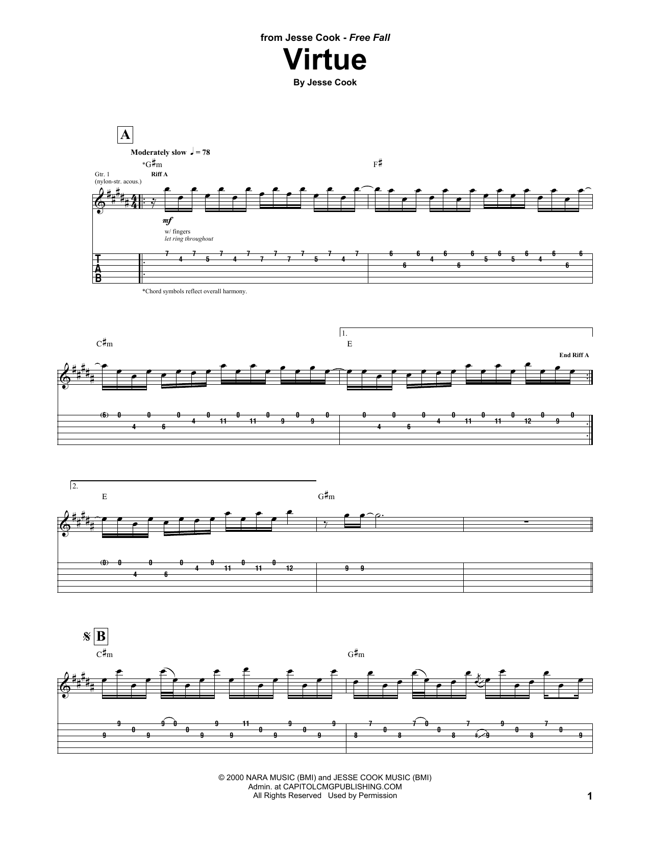 Virtue Sheet Music