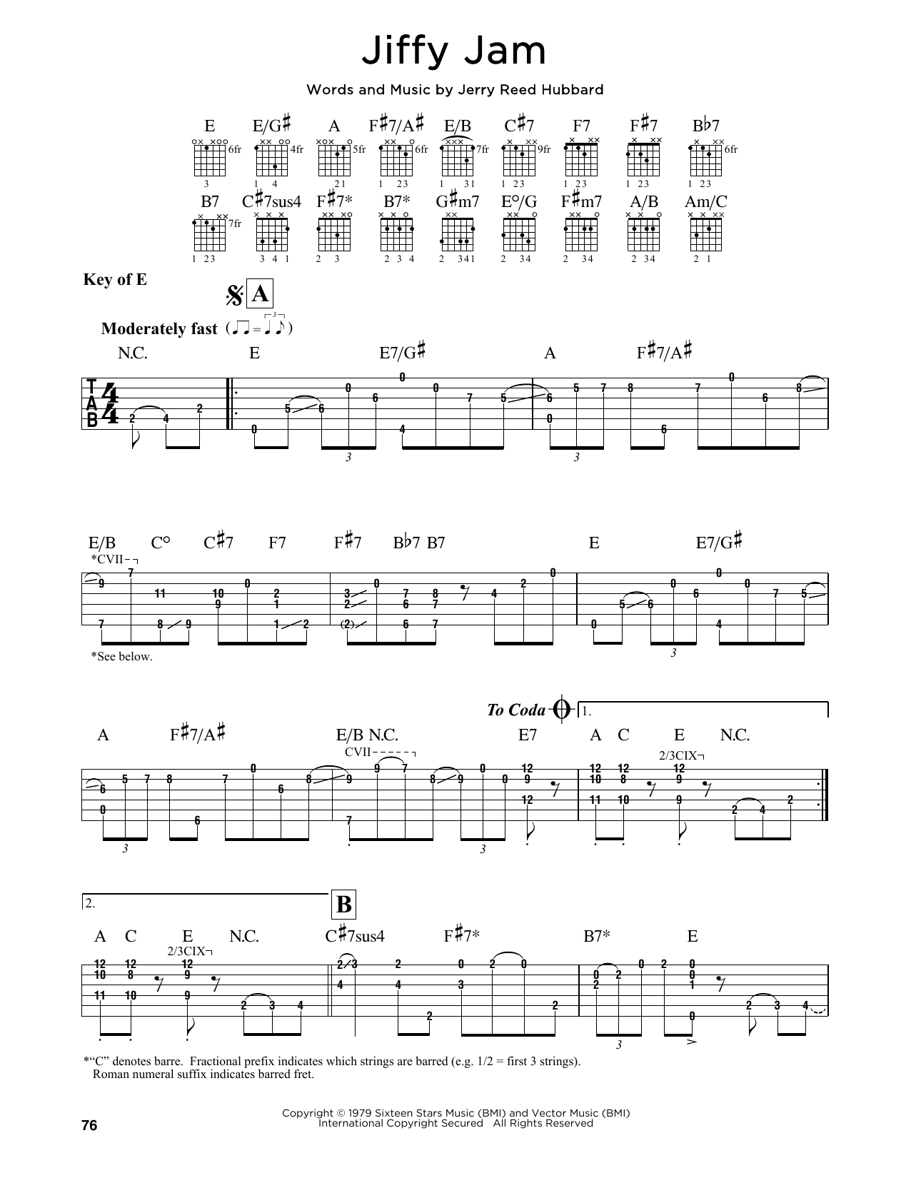 Jiffy Jam Sheet Music