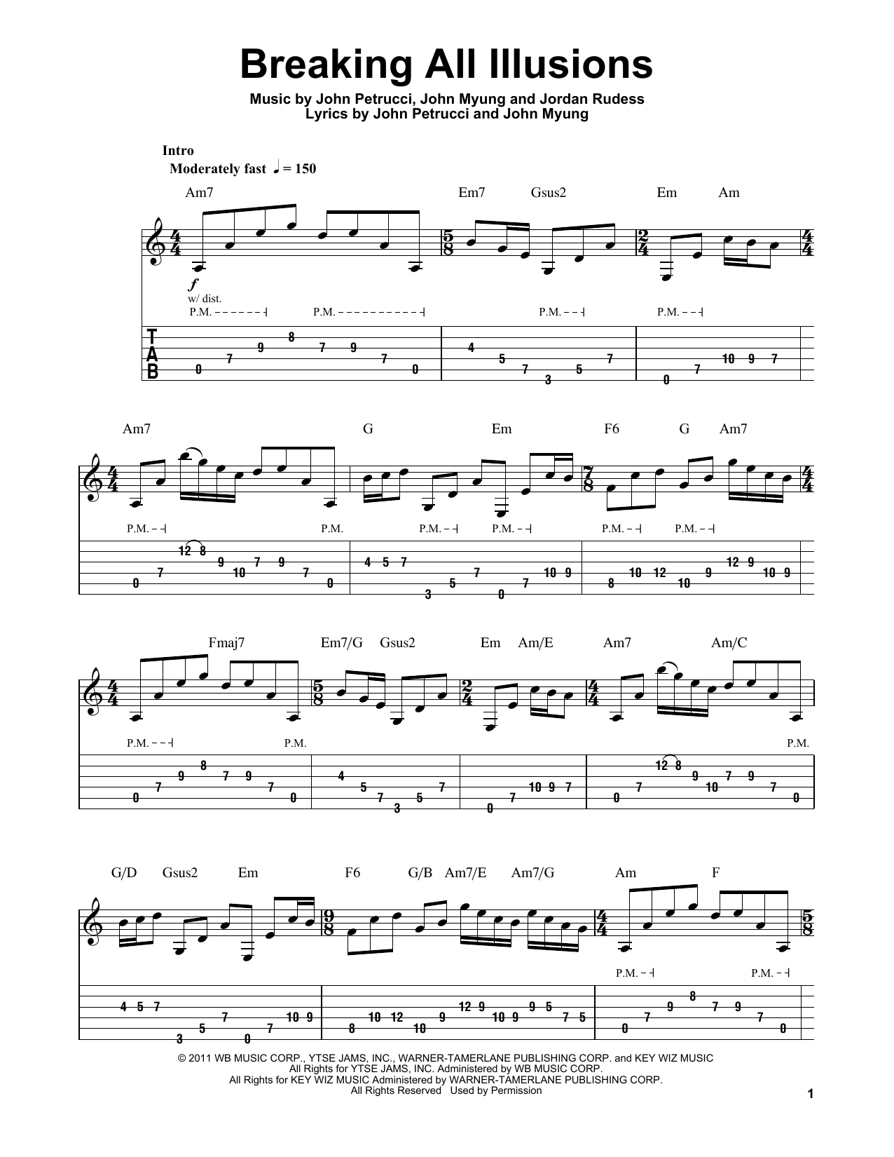 Breaking All Illusions Sheet Music
