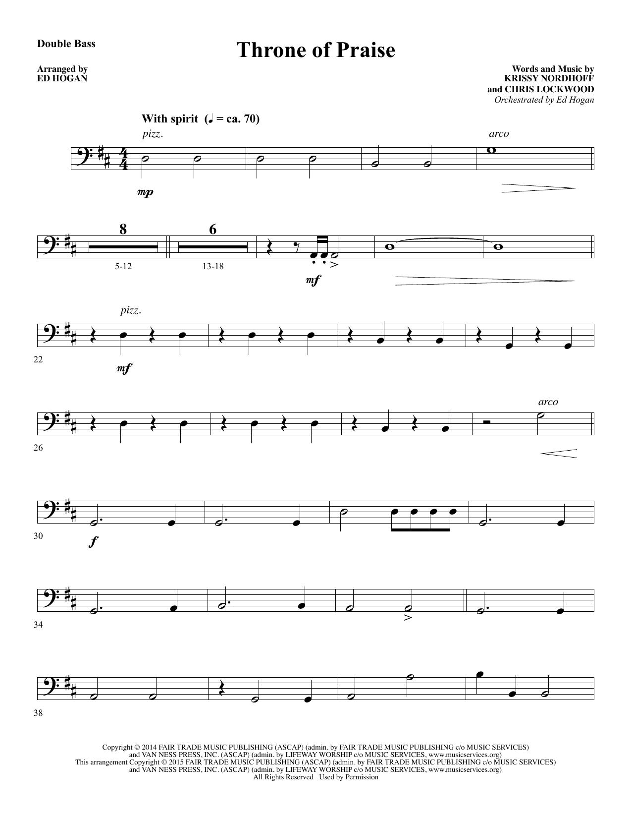 Throne of Praise - Double Bass (Choir Instrumental Pak)
