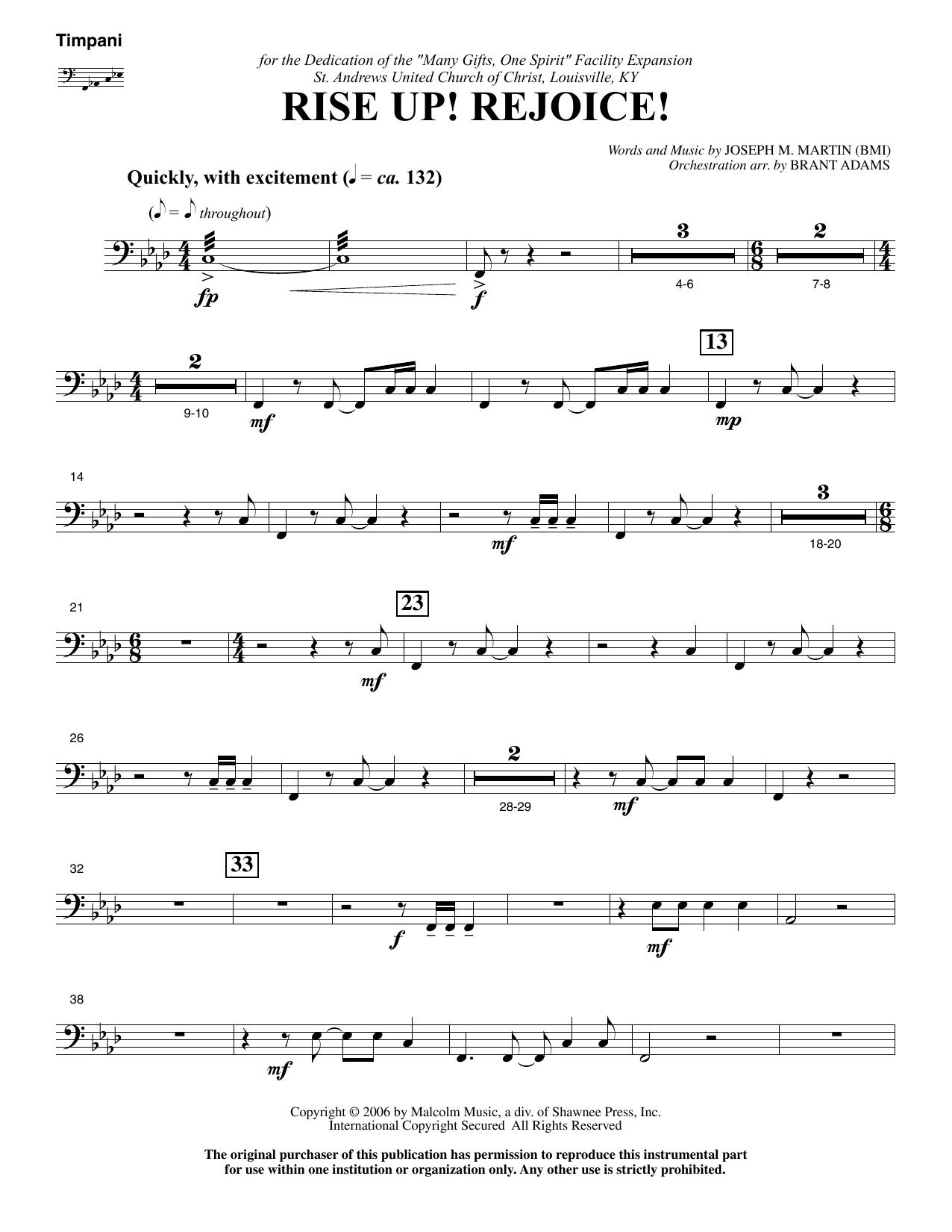 Rise Up! Rejoice! (from Footprints In The Sand) - Timpani (Choir Instrumental Pak)