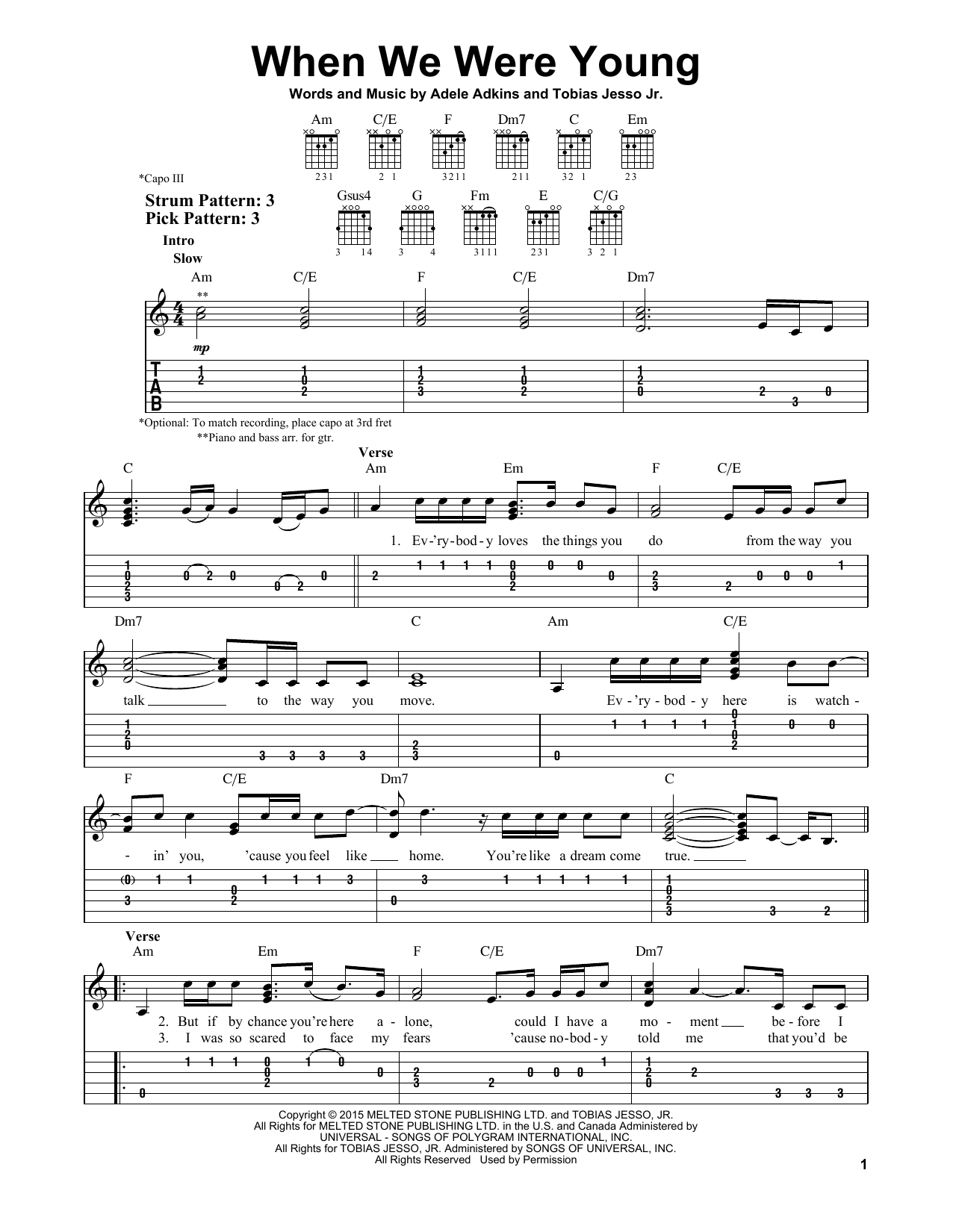 When we were young by adele easy guitar tab guitar instructor the most accurate tab hexwebz Image collections