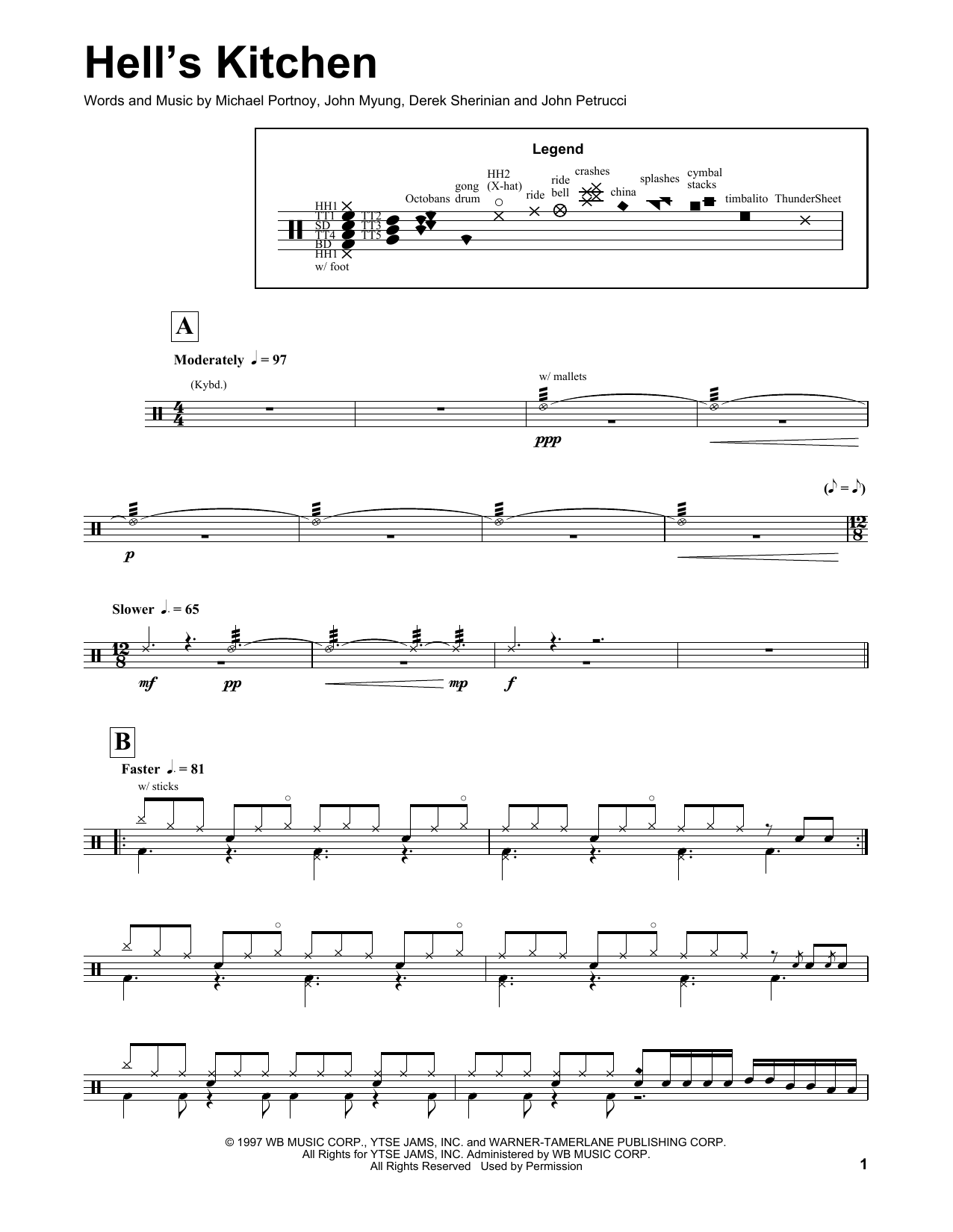 Hell's Kitchen Sheet Music