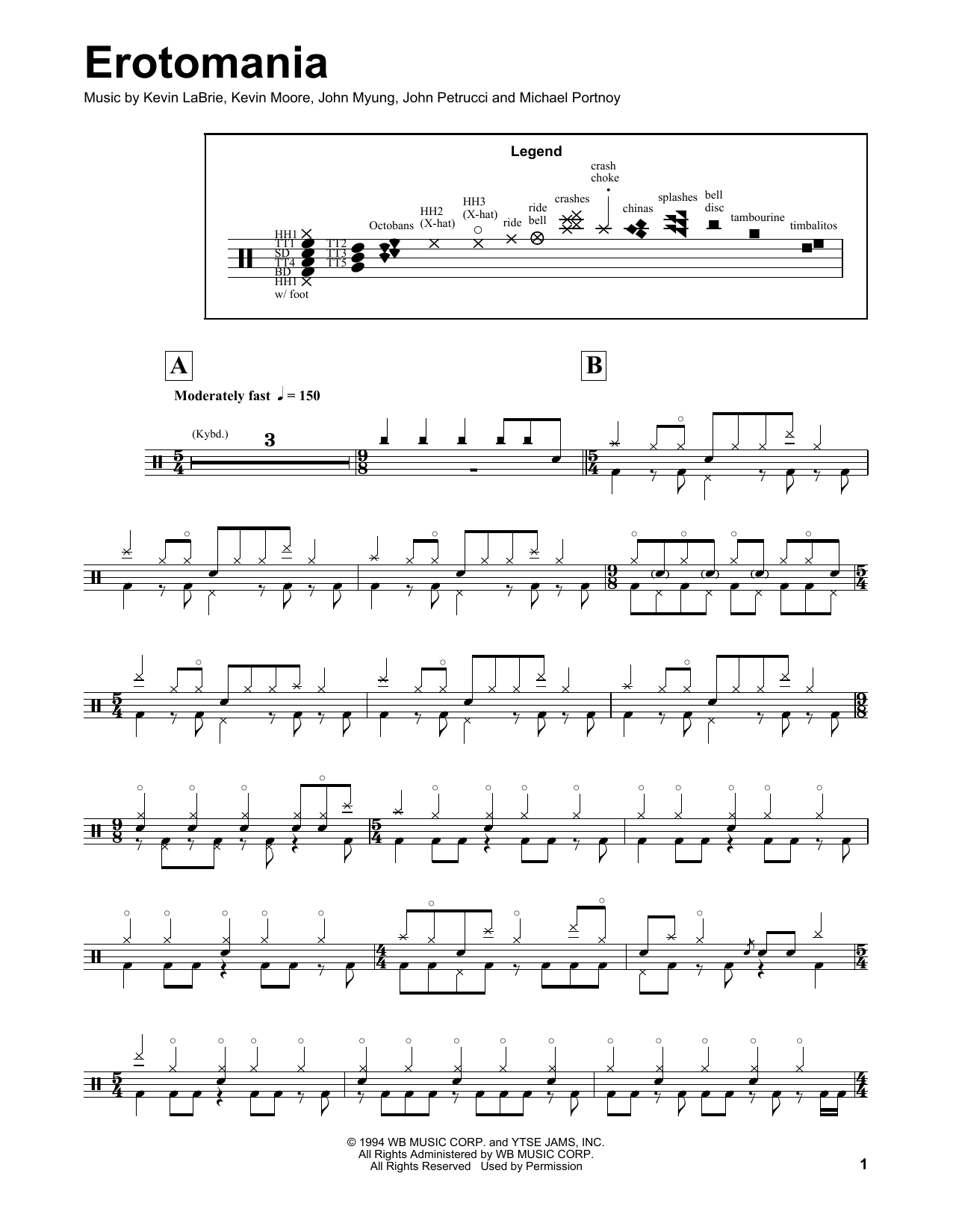 Erotomania Sheet Music