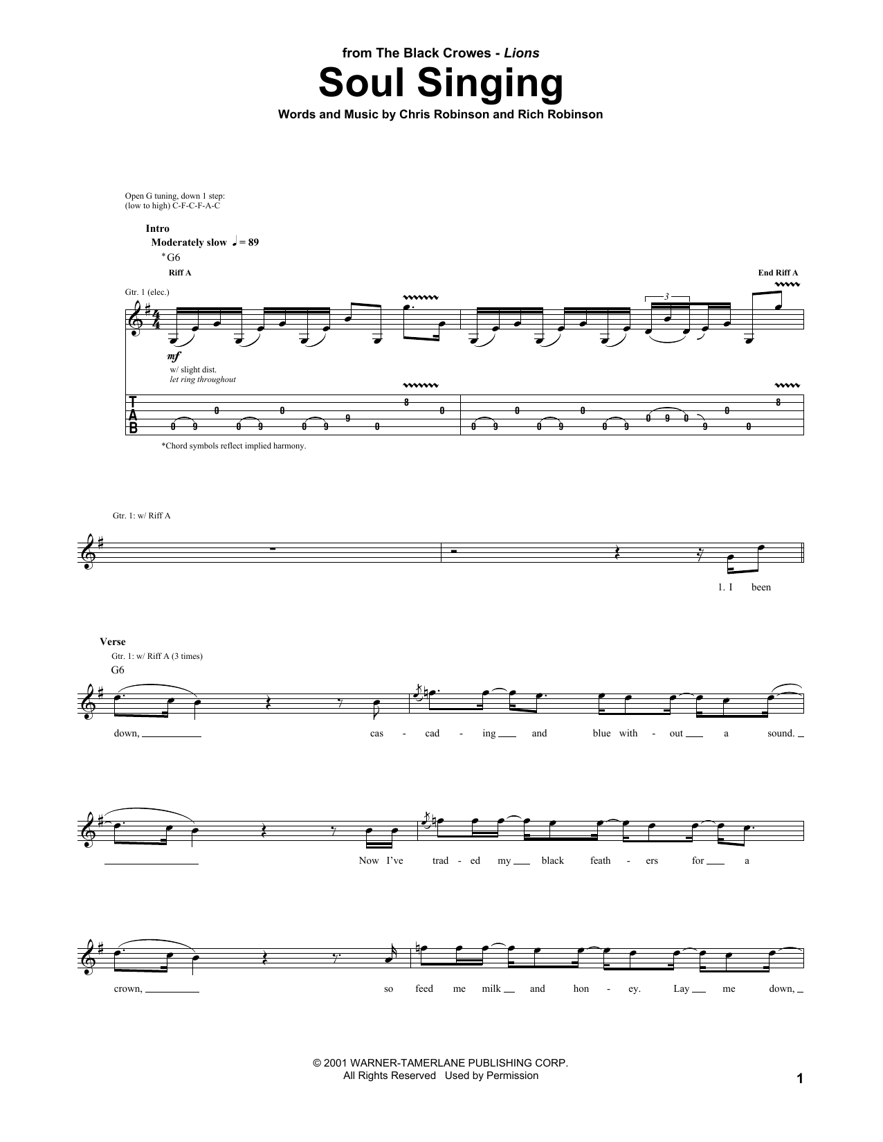 Soul Singing Sheet Music