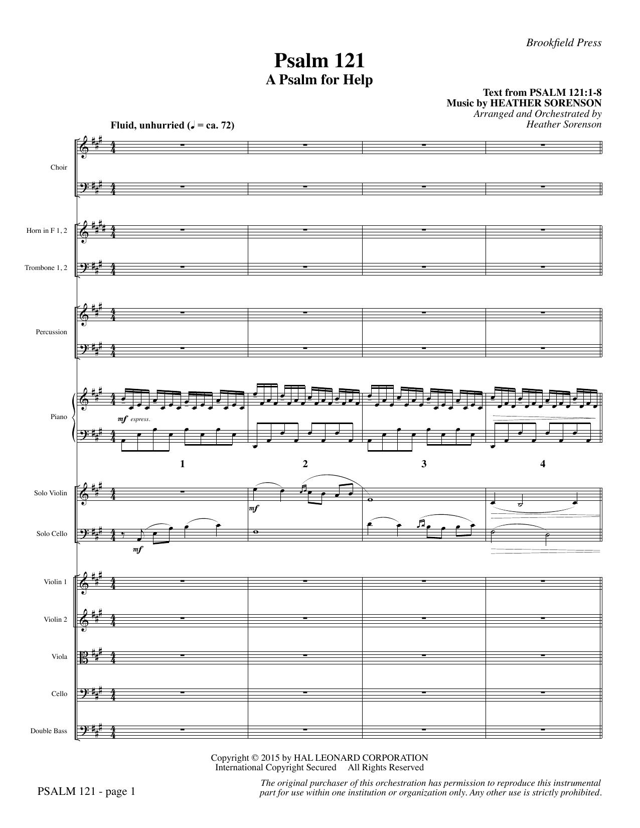Psalm 121 (A Psalm For Help) - Full Score (Choir Instrumental Pak)