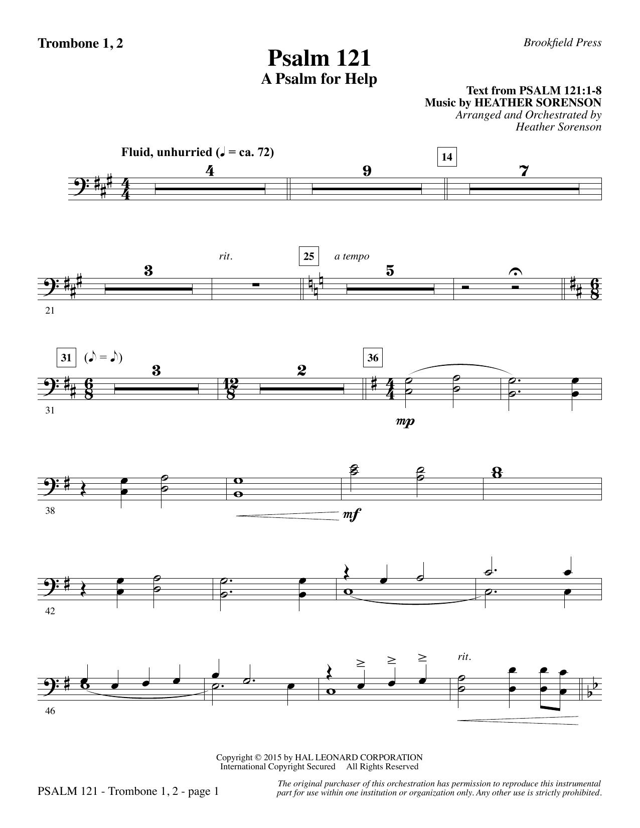 Psalm 121 (A Psalm For Help) - Trombone 1 & 2 (Choir Instrumental Pak)