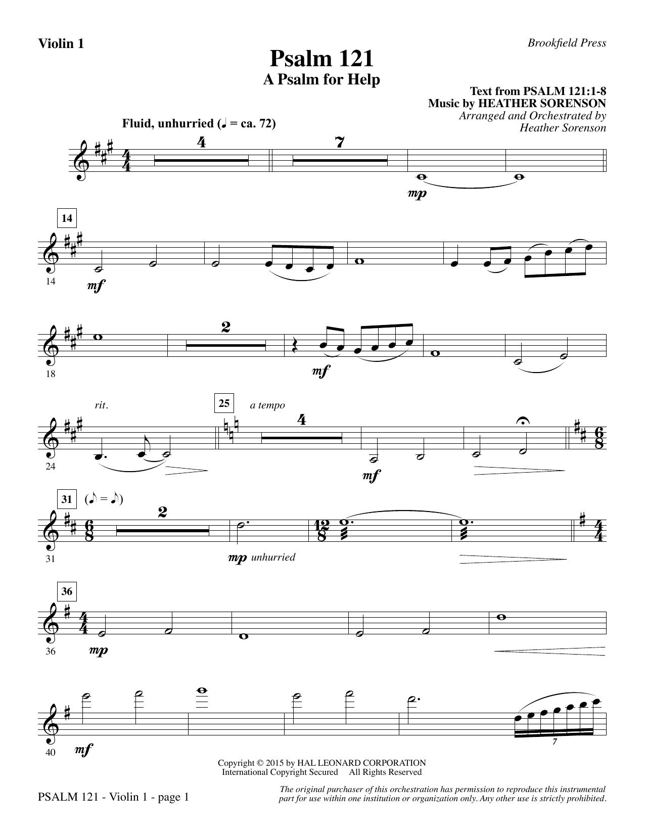 Psalm 121 (A Psalm For Help) - Violin 1 (Choir Instrumental Pak)