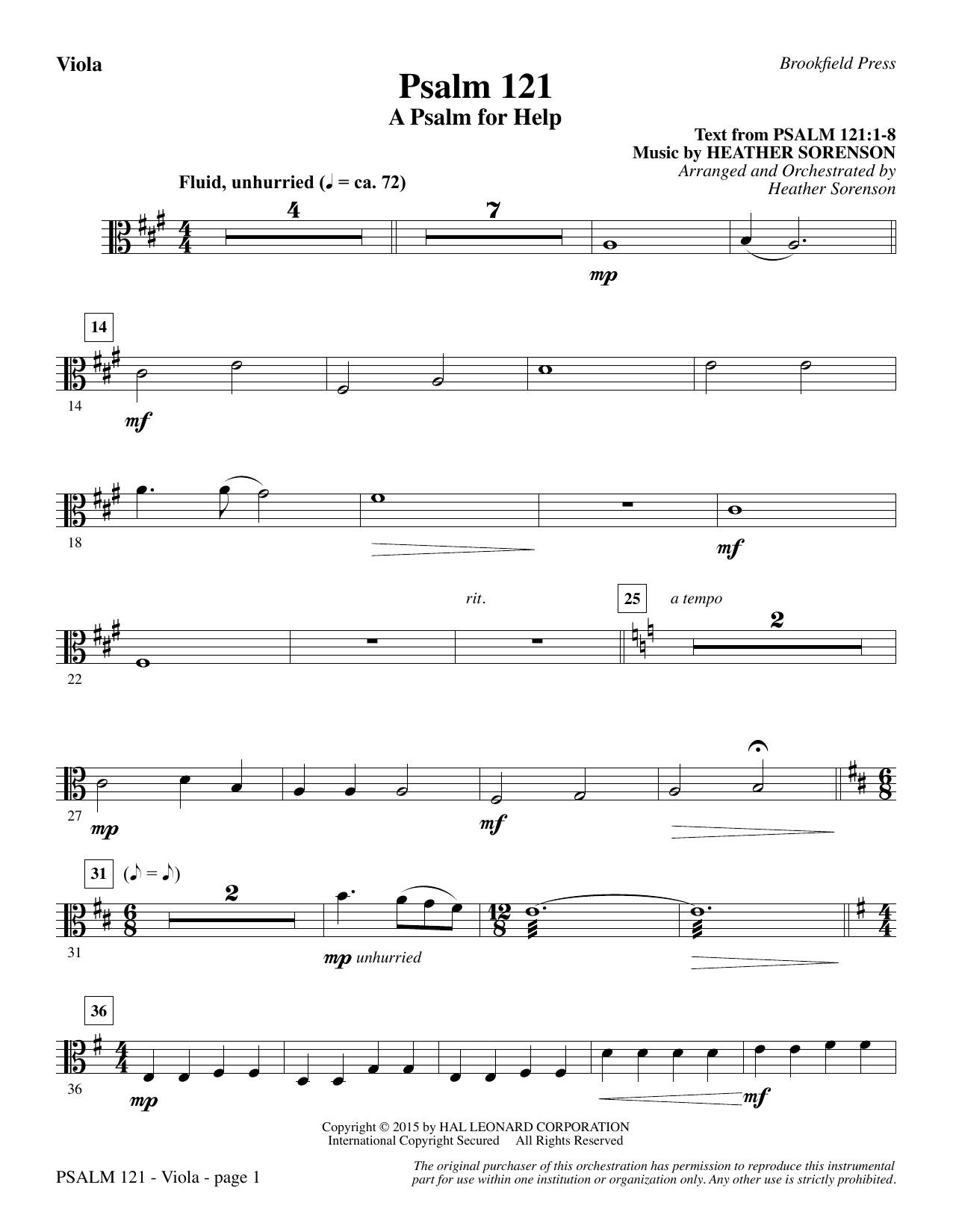 Psalm 121 (A Psalm For Help) - Viola (Choir Instrumental Pak)