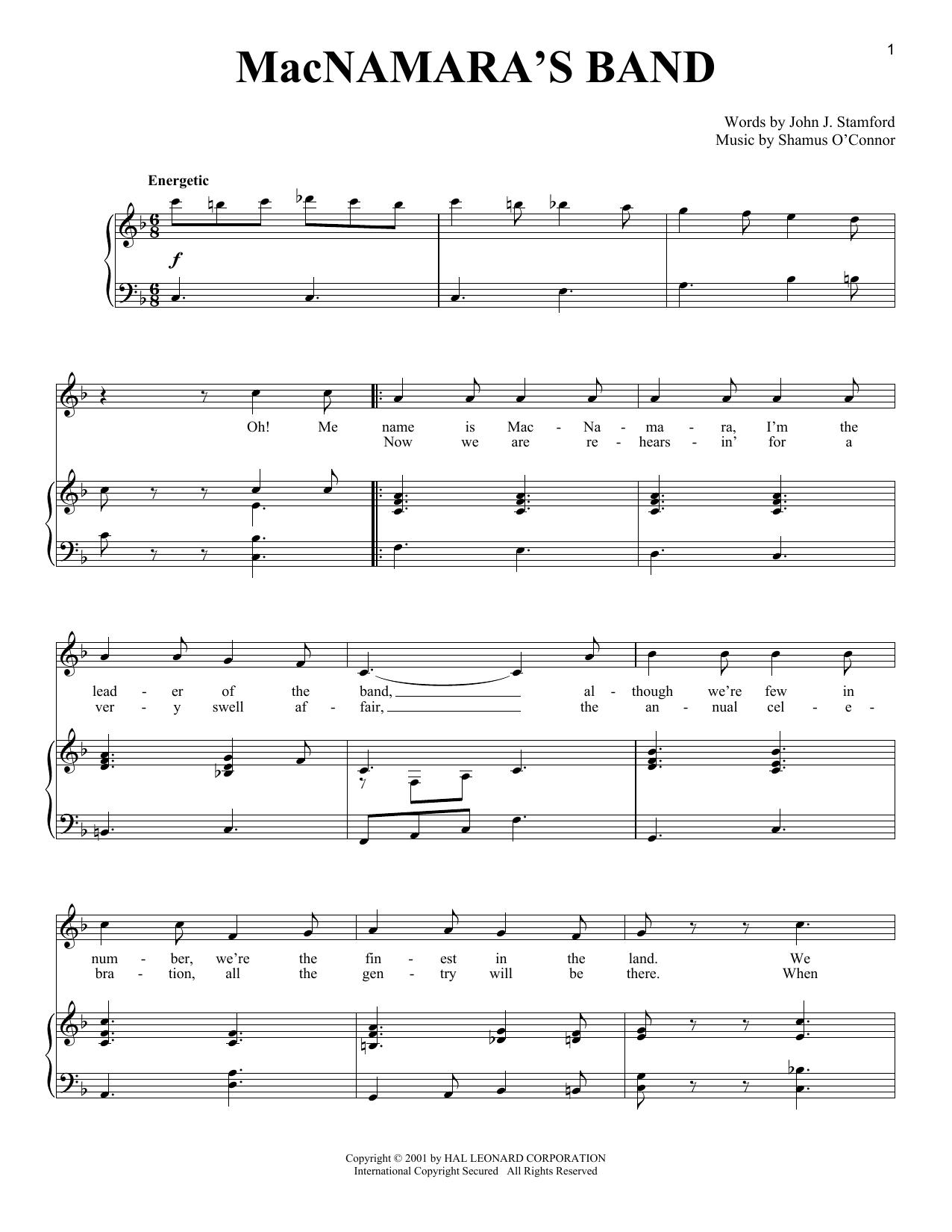 MacNamara's Band (Piano & Vocal)