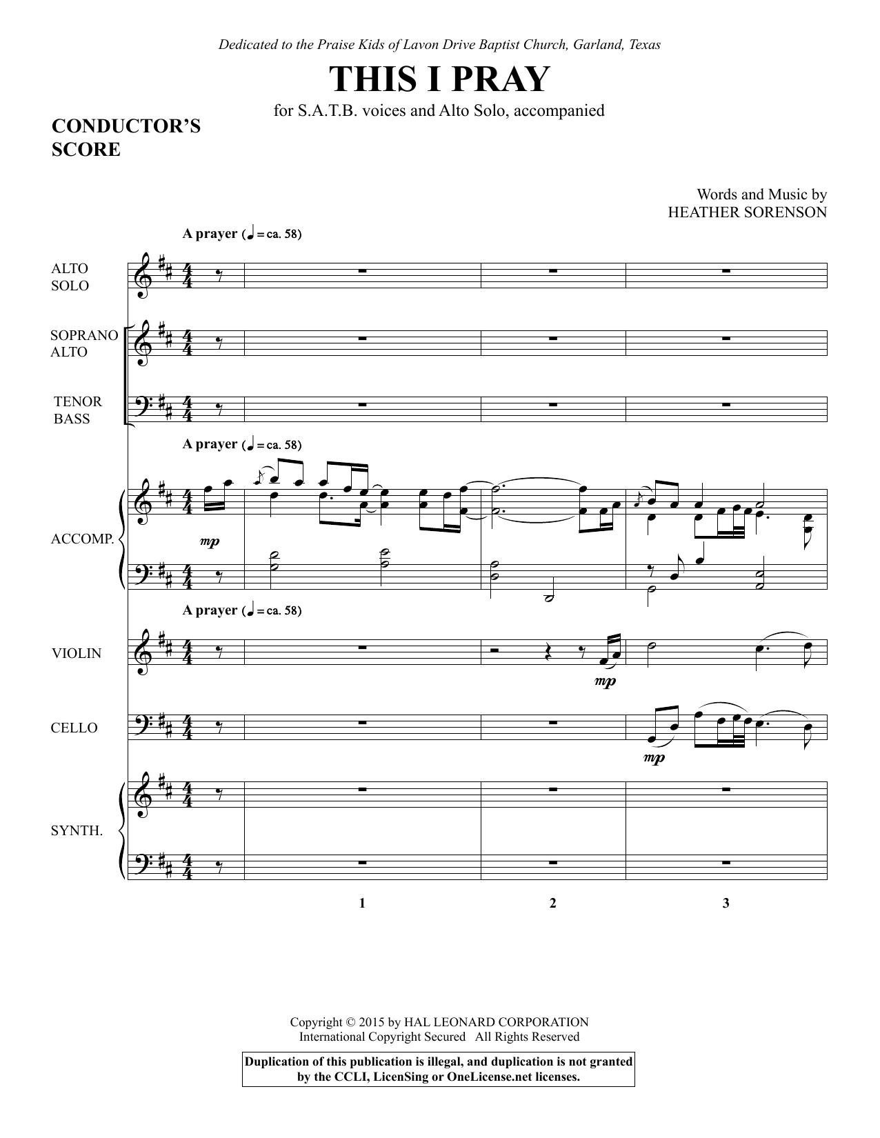 This I Pray - Full Score (Choir Instrumental Pak)