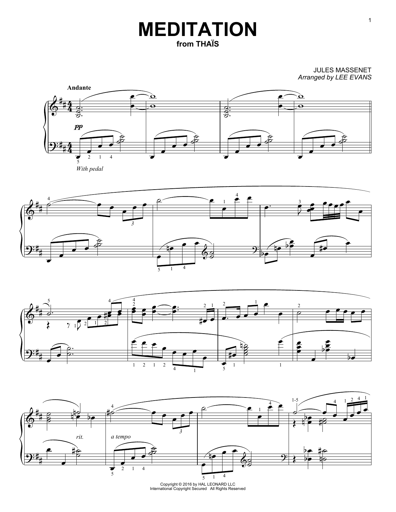 Meditation Sheet Music