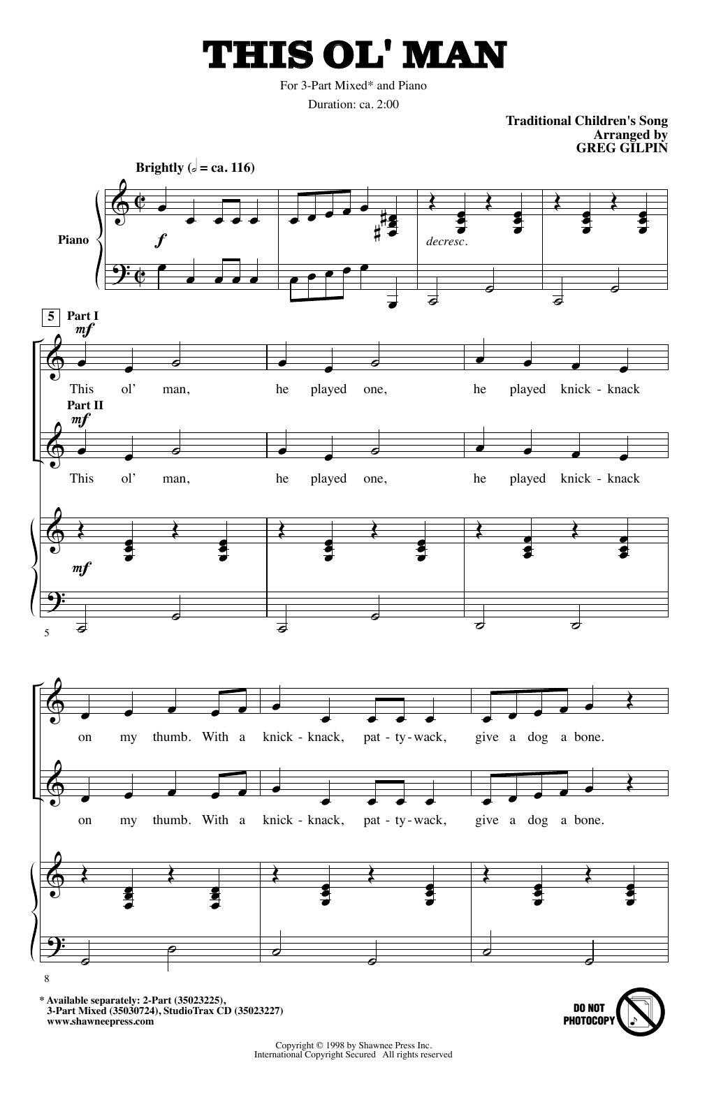 This Ol' Man Sheet Music