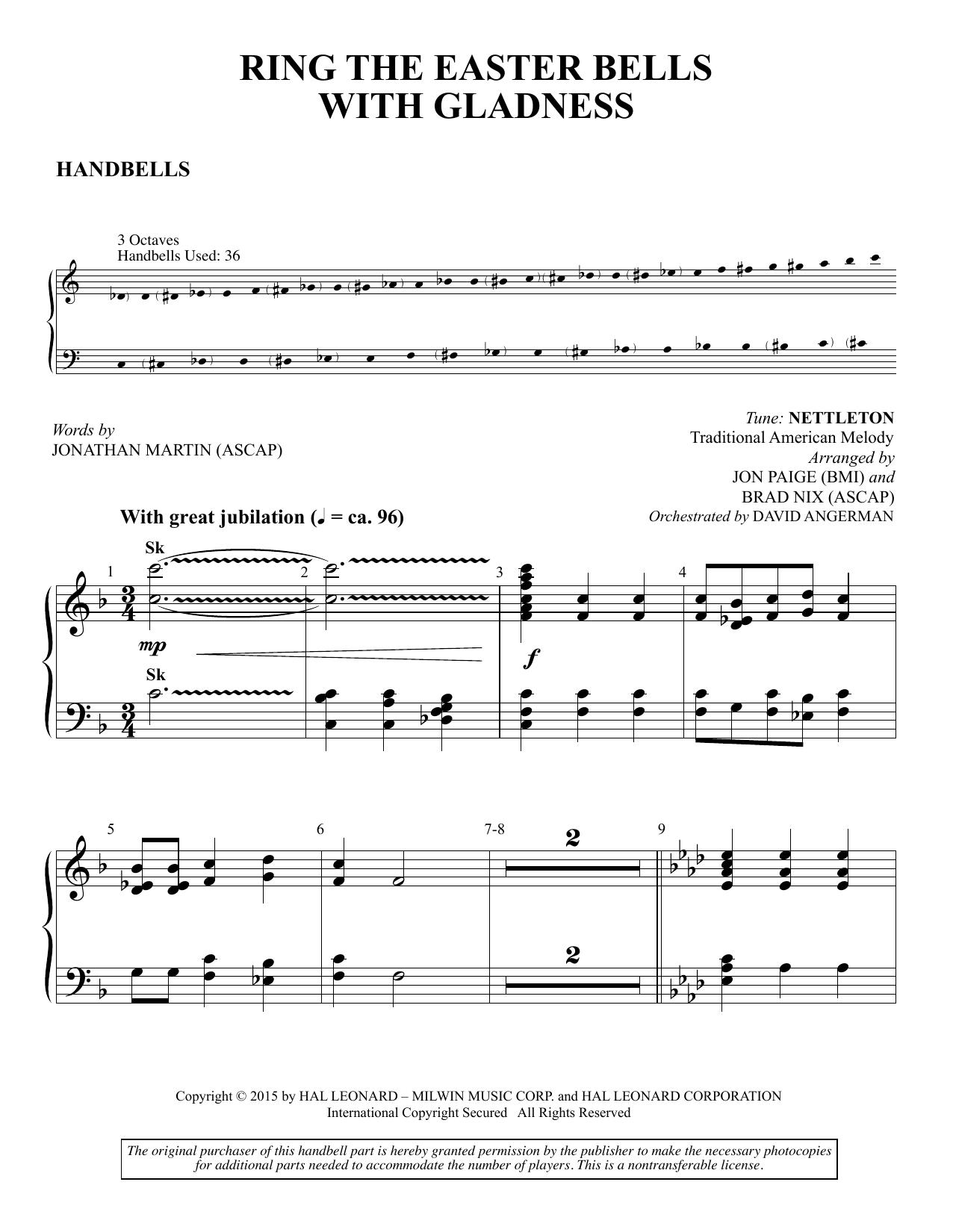 Ring the Easter Bells with Gladness - Handbells (Choir Instrumental Pak)