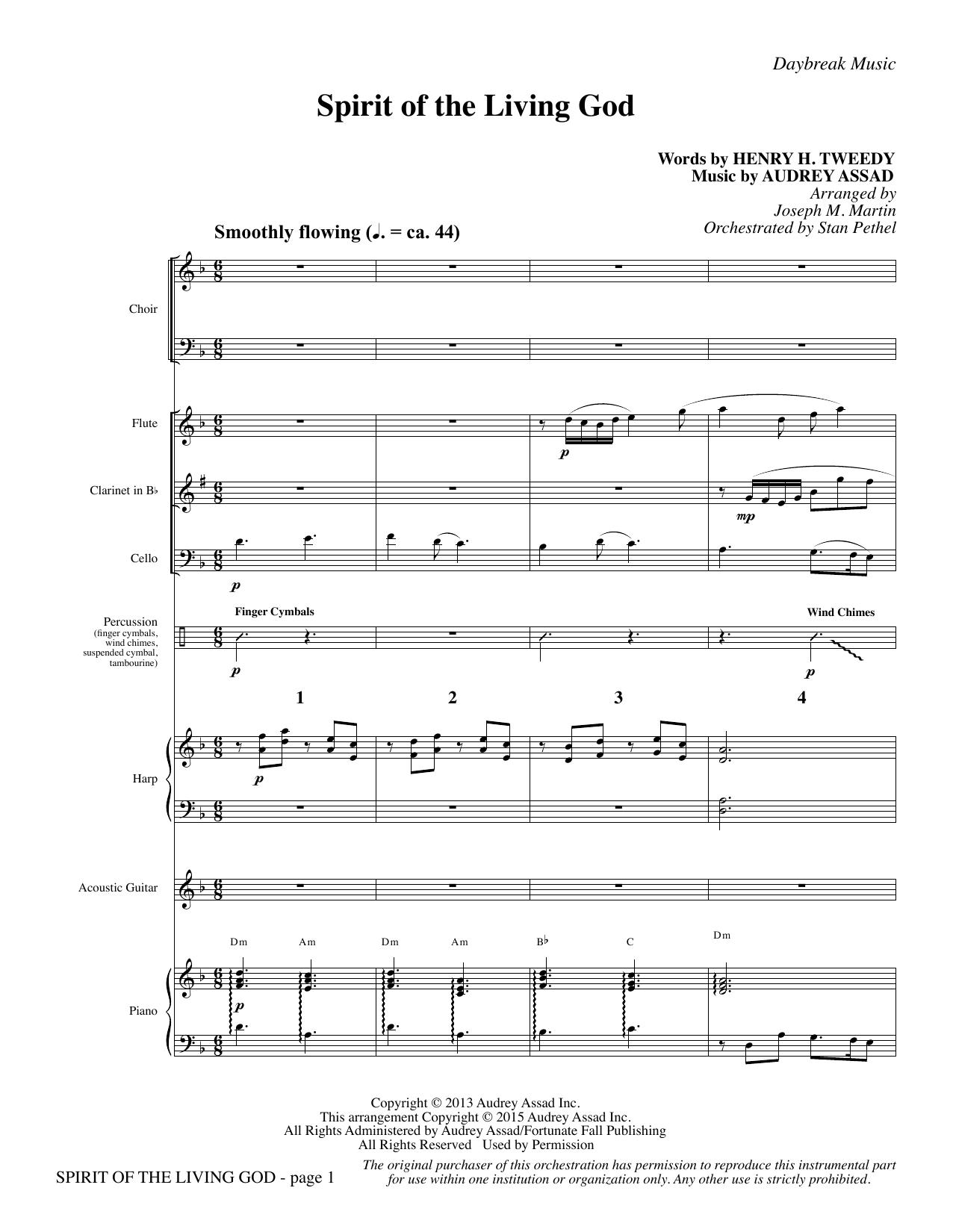 Spirit of the Living God - Full Score (Choir Instrumental Pak)