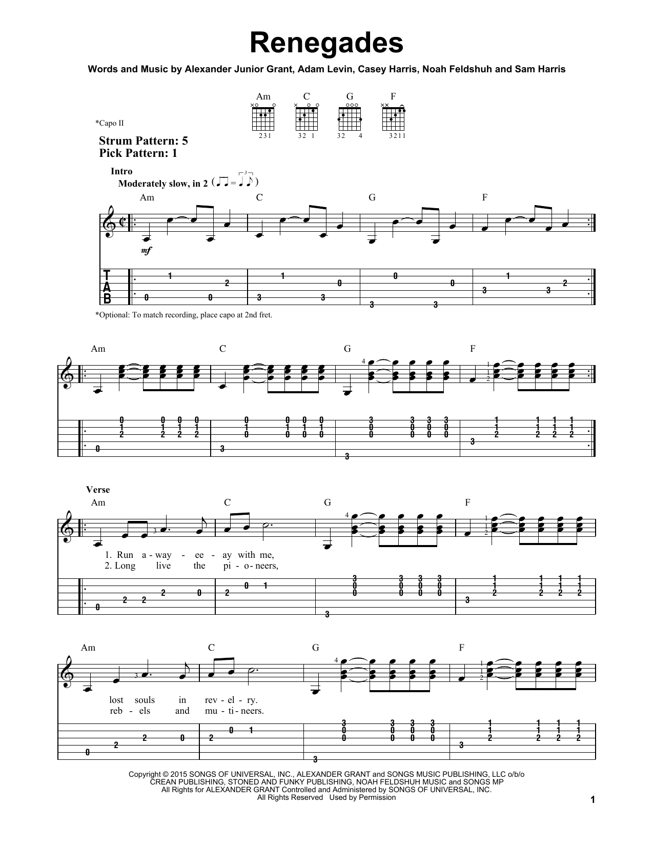 Sheet Music Digital Files To Print - Licensed X Ambassadors