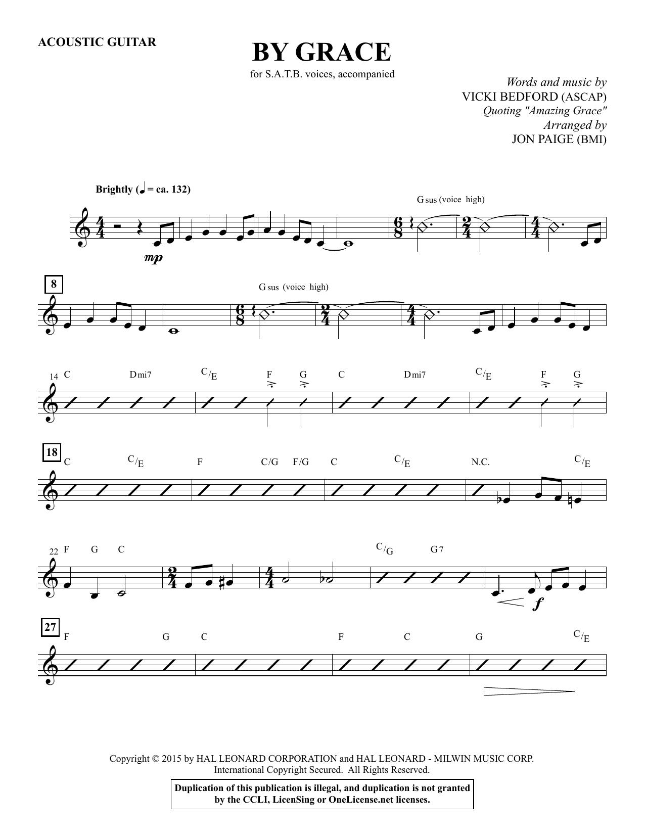 By Grace - Mandolin Sheet Music
