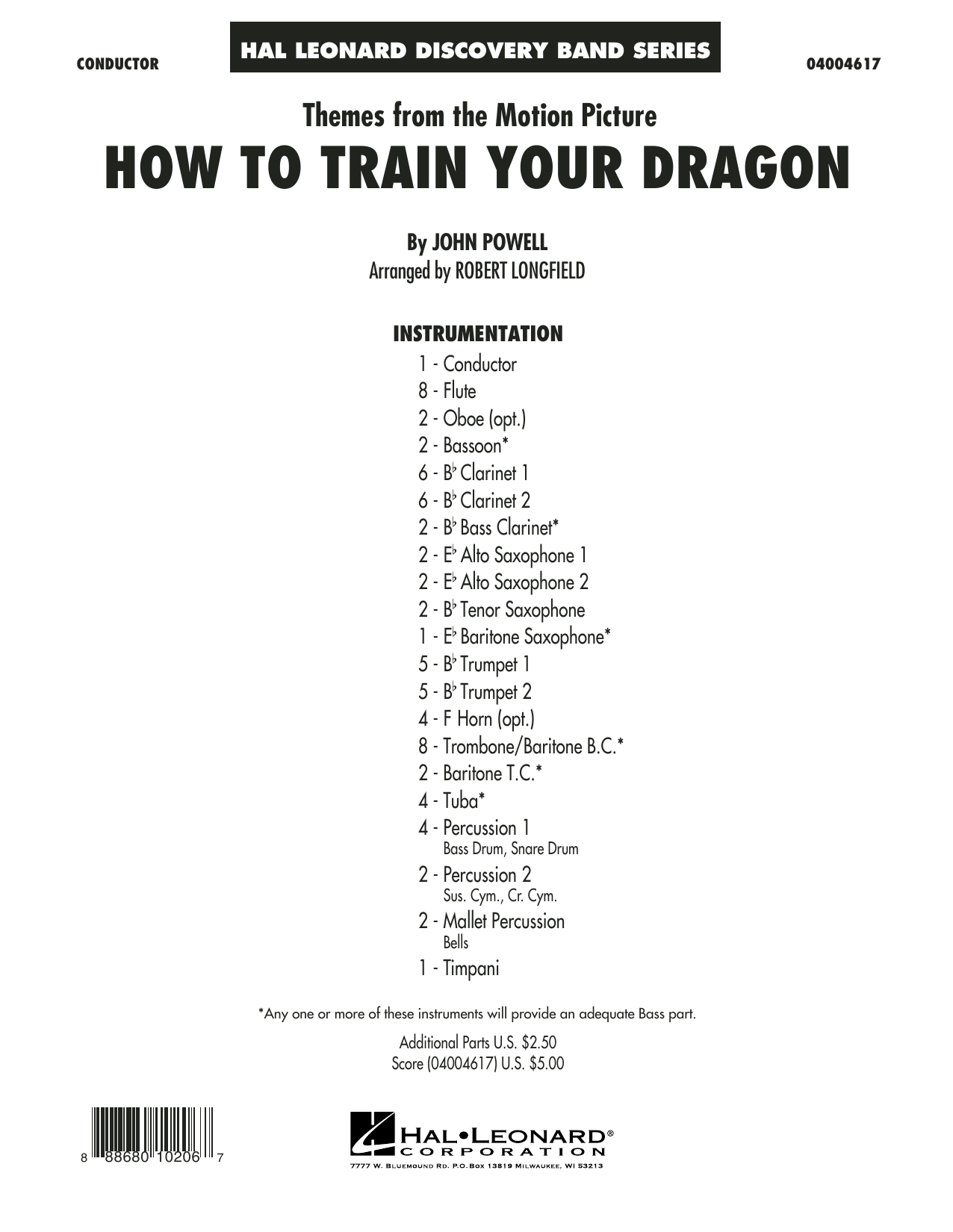 Themes from How to Train Your Dragon (COMPLETE) sheet music for concert band by Robert Longfield and John Powell. Score Image Preview.
