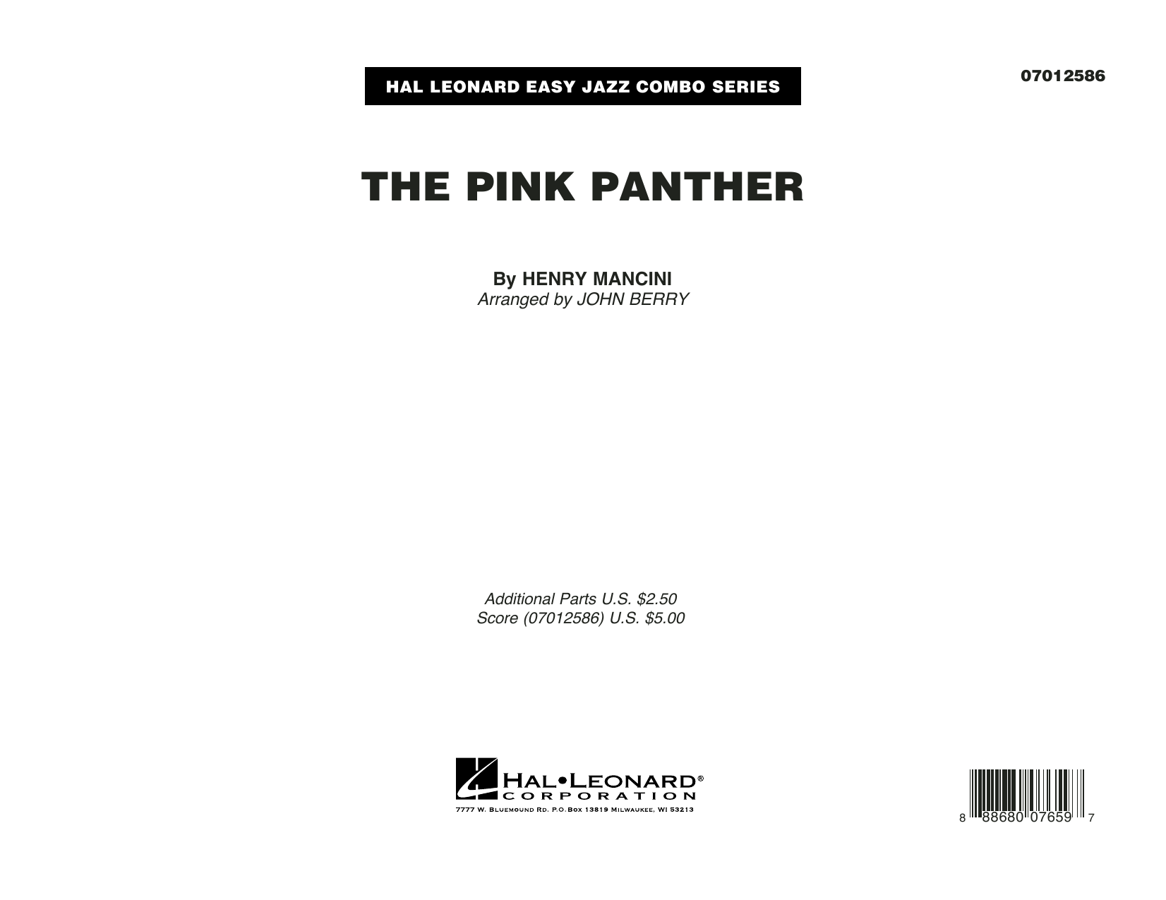 The Pink Panther, complete collection (COMPLETE) sheet music for jazz band by Henry Mancini and John Berry. Score Image Preview.