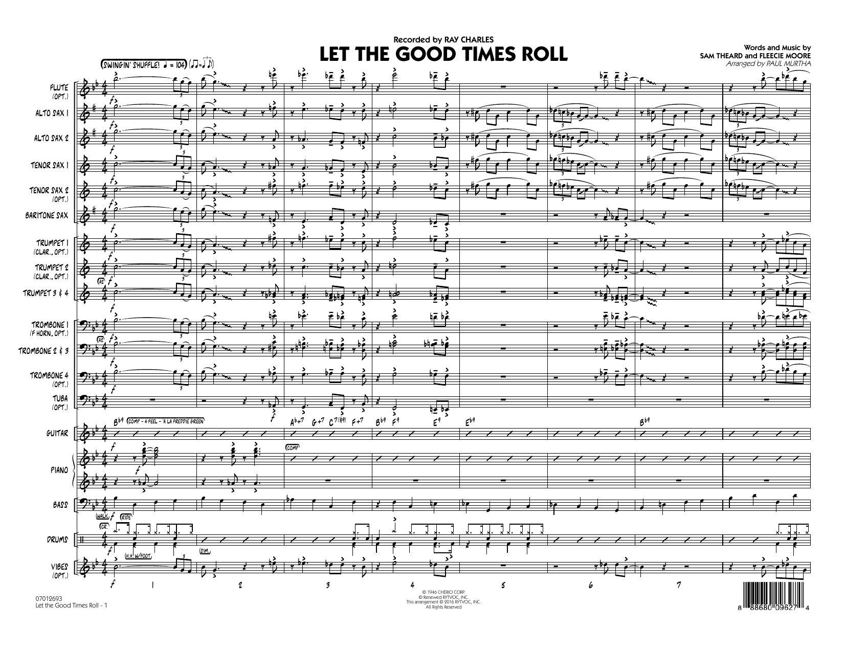 page one of Let the Good Times Roll - Conductor Score (Full Score)ASALTTEXT