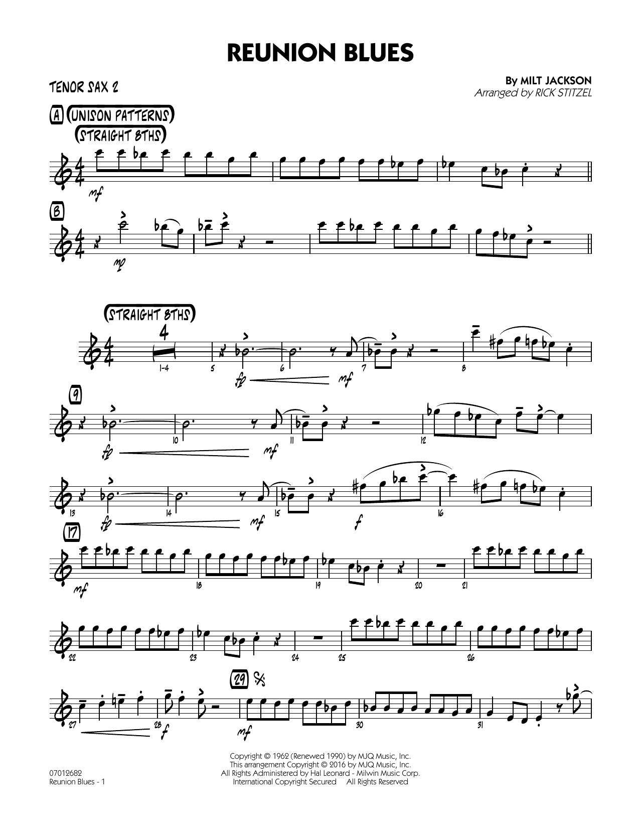 Reunion Blues - Tenor Sax 2 (Jazz Ensemble)