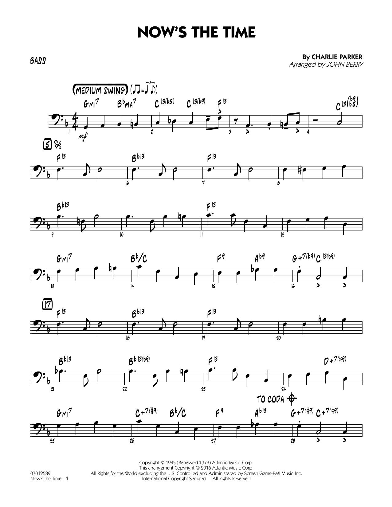 Now's the Time - Bass (Jazz Ensemble)