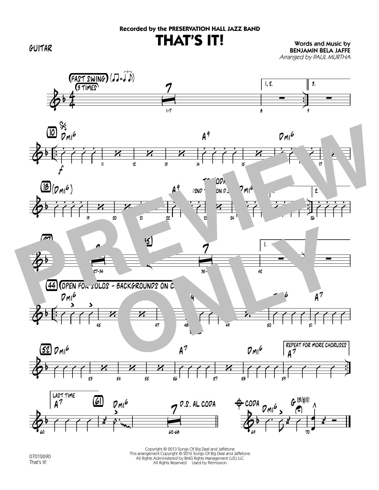That's It! - Guitar (Jazz Ensemble)