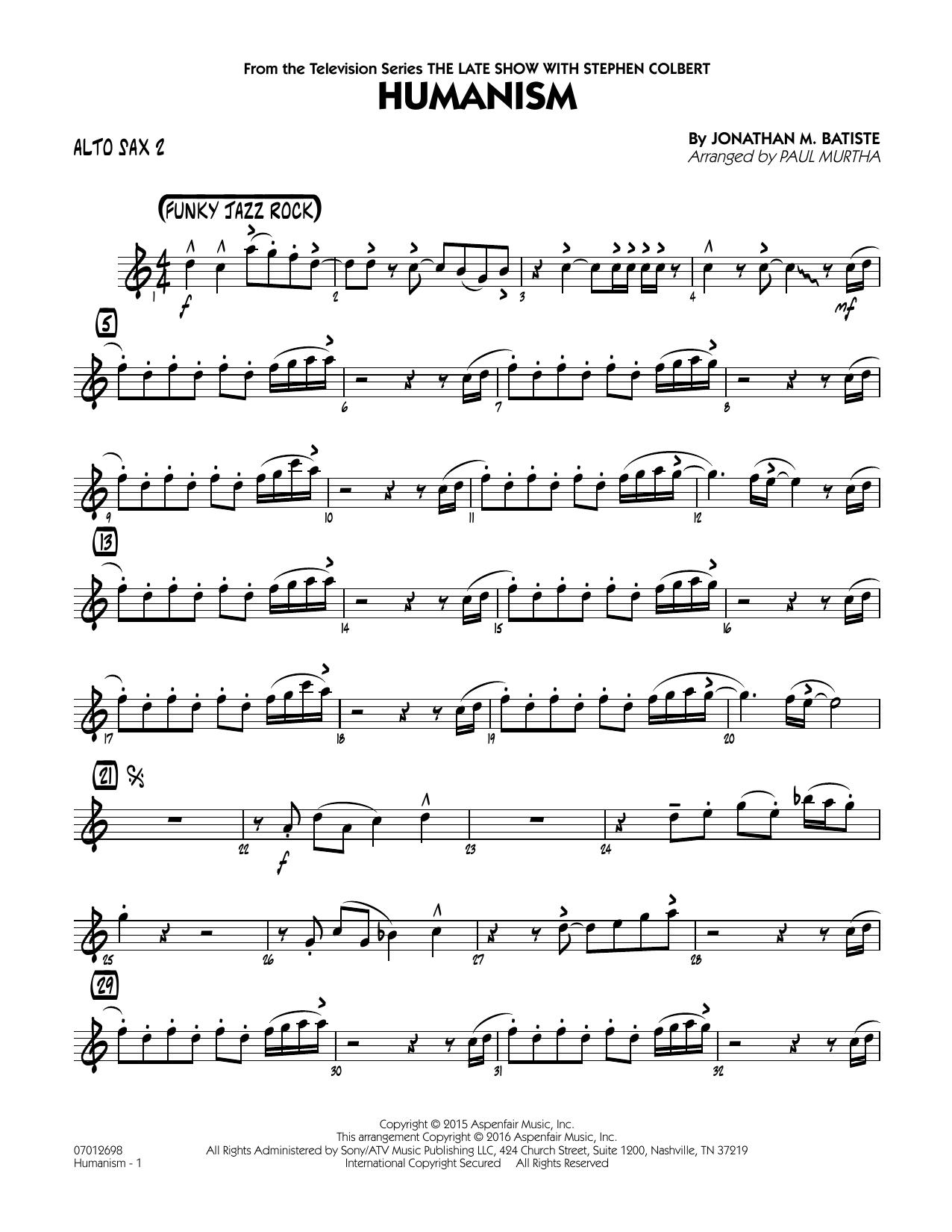 Humanism - Alto Sax 2 (Jazz Ensemble)