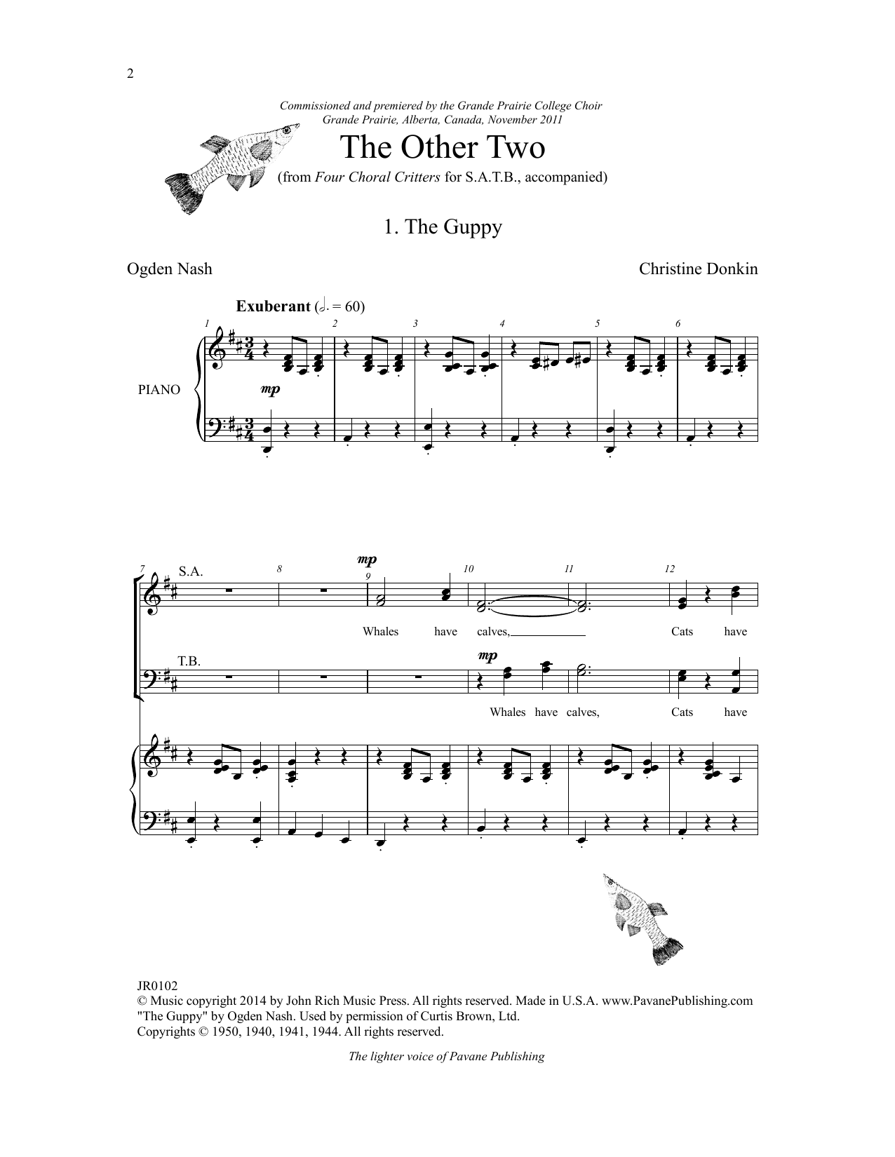 Four Choral Critters - The Other Two Sheet Music