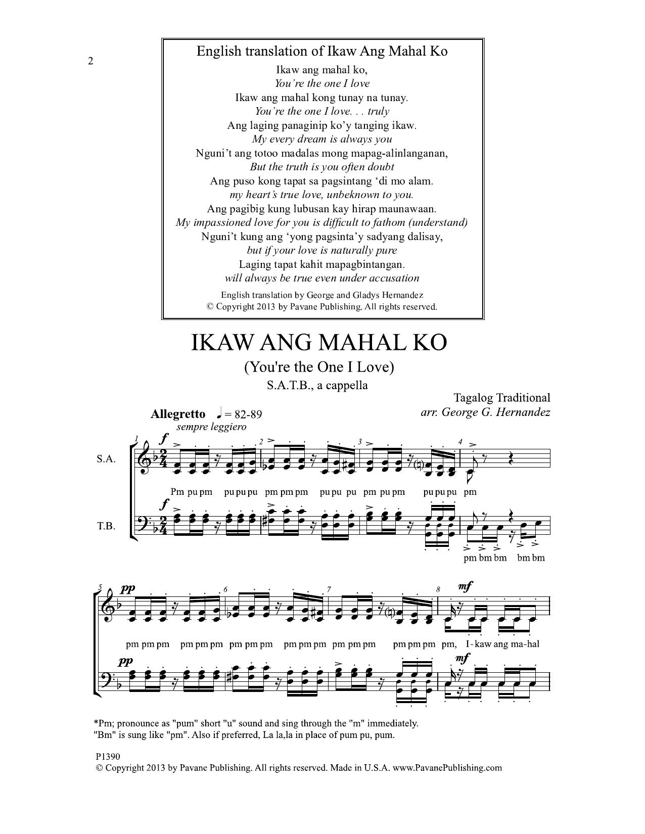 Ikaw Ang Mahal Ko Sheet Music