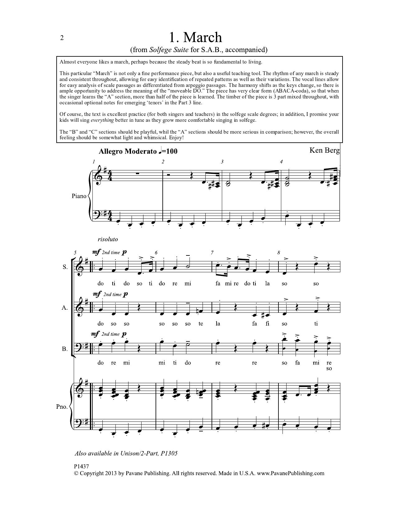 March Sheet Music