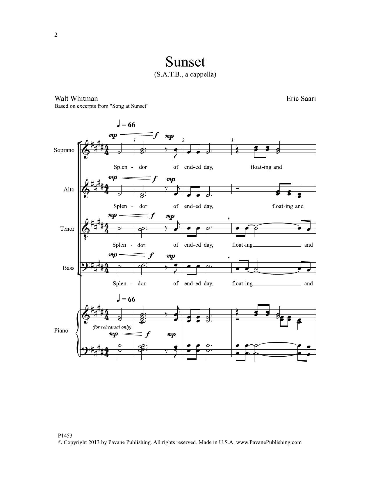 Sunset Sheet Music