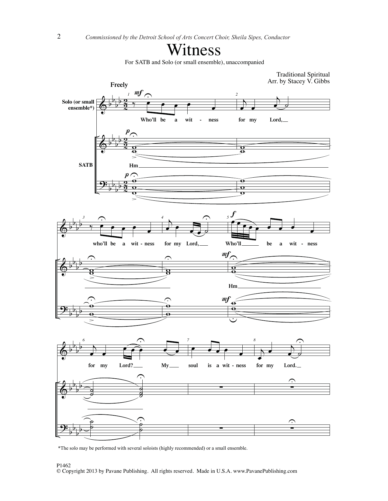 Witness Sheet Music
