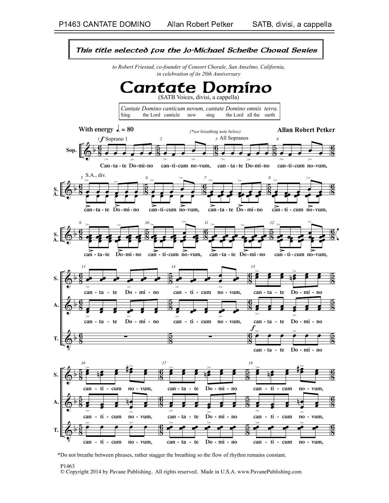 Cantate Domino Sheet Music