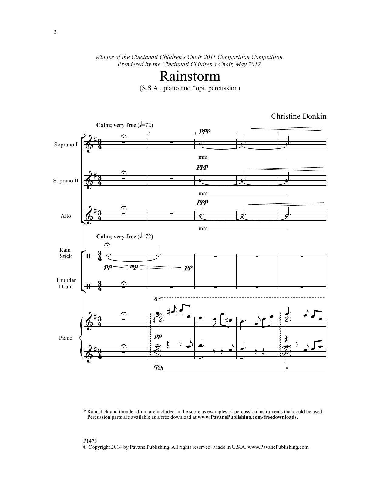 Rainstorm Sheet Music