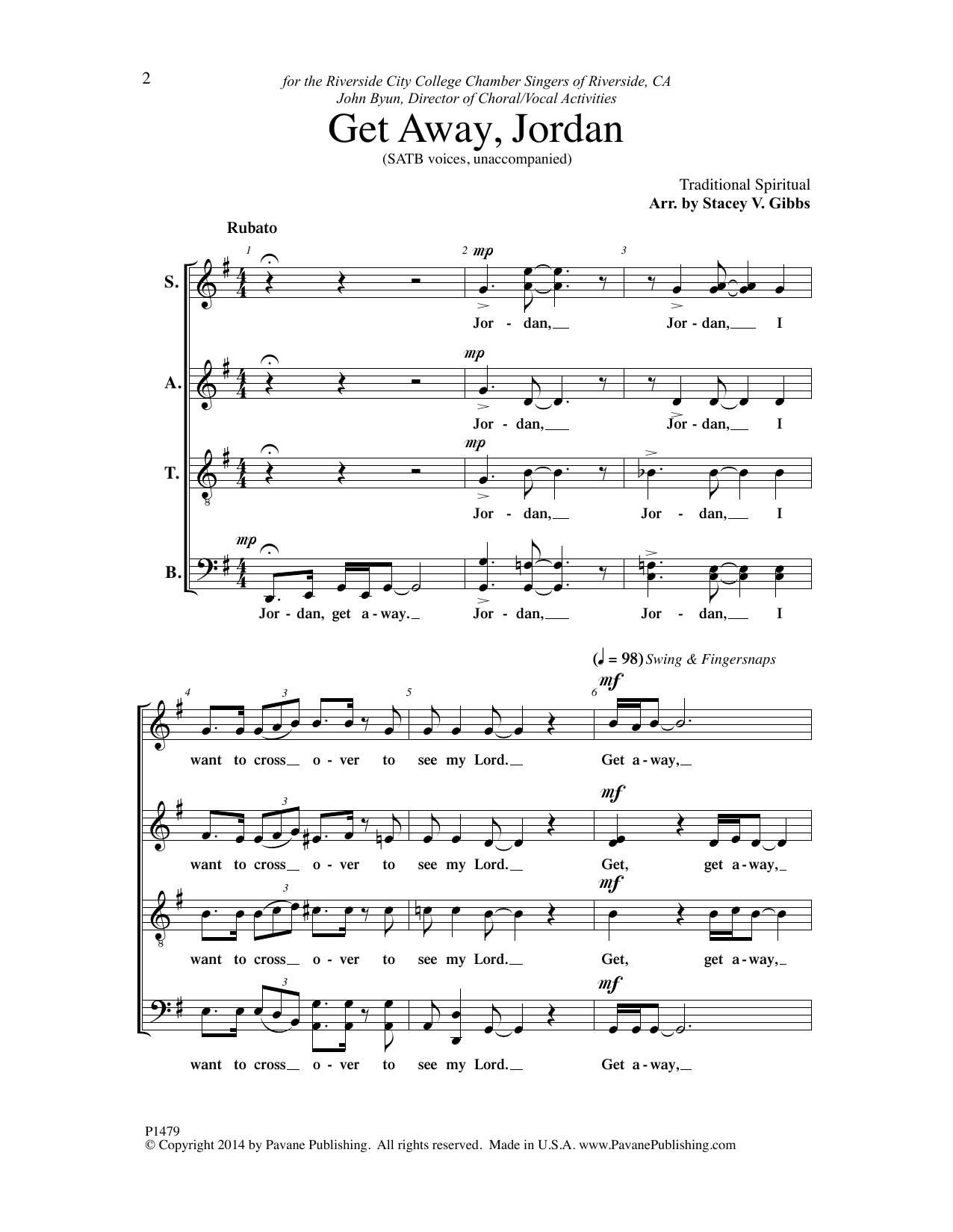 Get Away, Jordon Sheet Music
