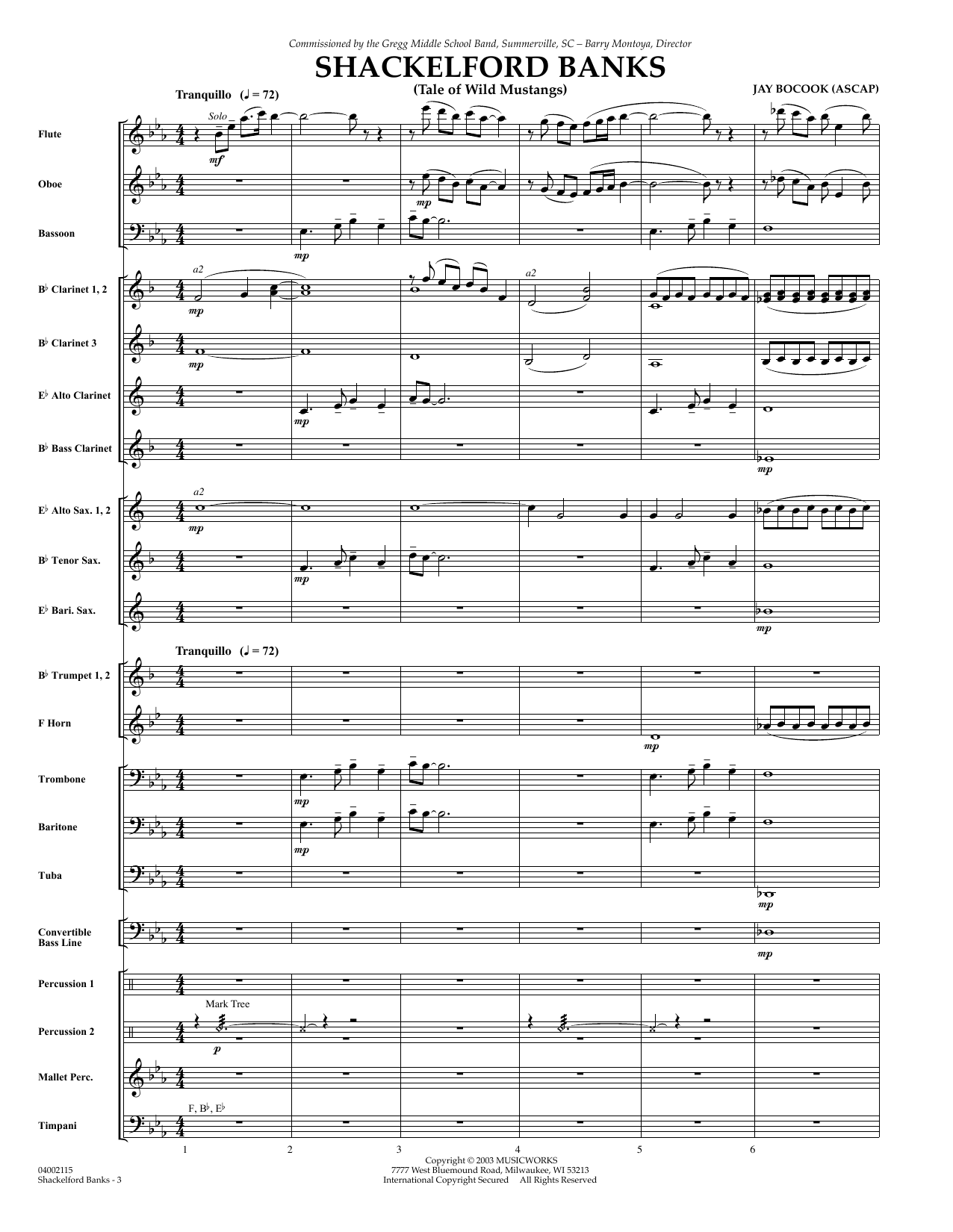 Shackelford Banks - Full Score (Concert Band)