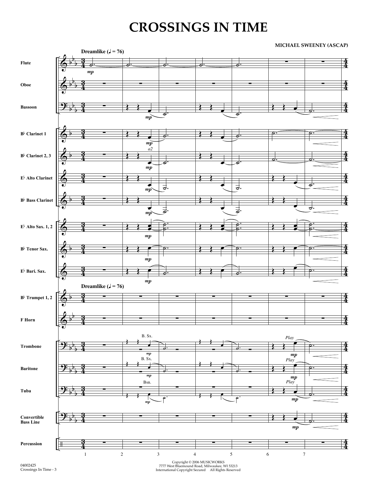 Crossings In Time - Full Score (Concert Band)