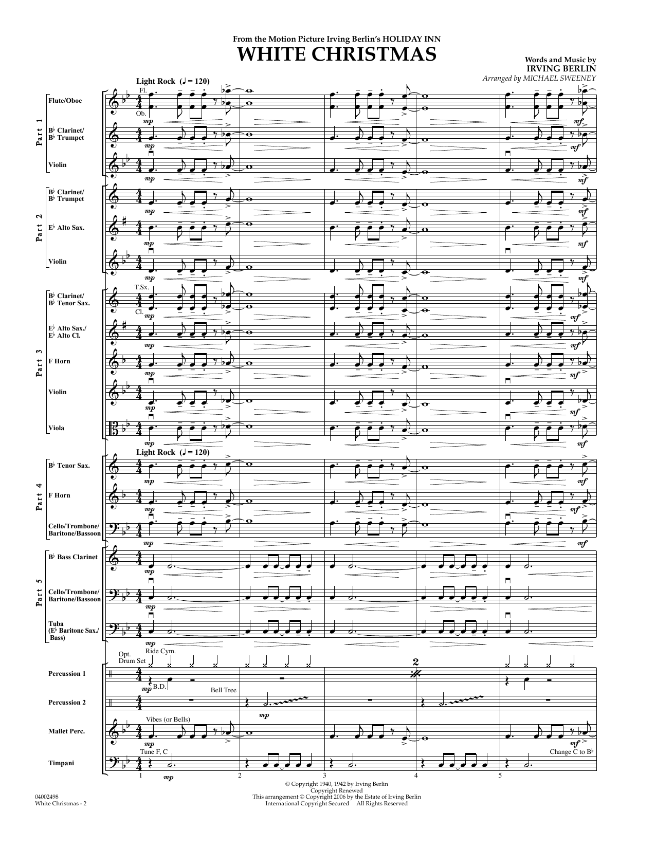 White Christmas (Flex-Band) - Conductor Score (Full Score) (Concert Band)