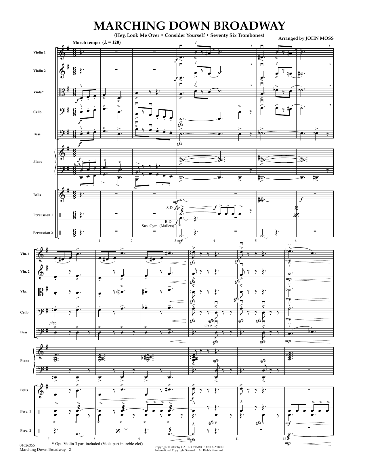 Marching Down Broadway - Full Score (Orchestra)