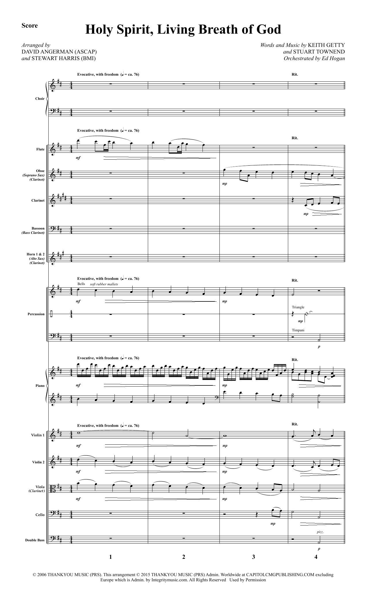 Holy Spirit, Living Breath of God - Full Score Sheet Music