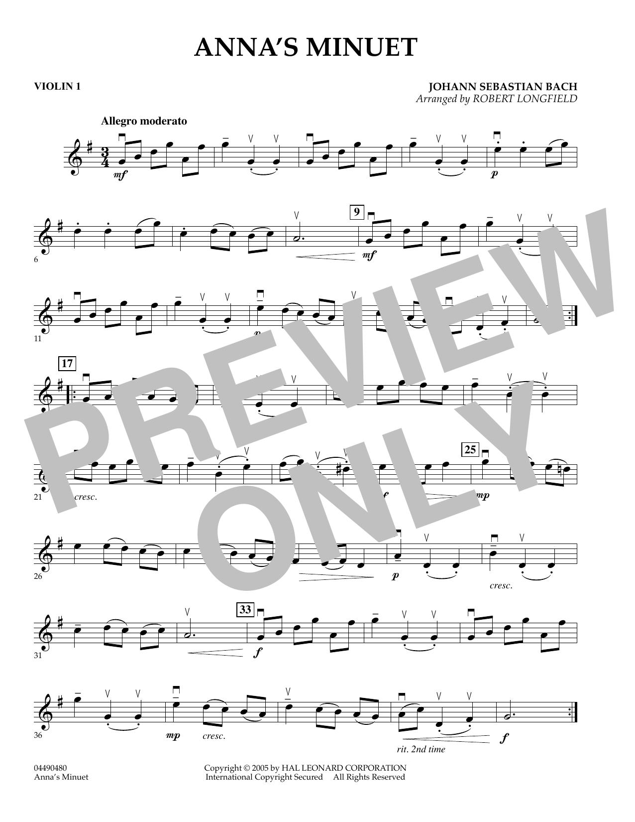 Anna's Minuet - Violin 1 (Orchestra)