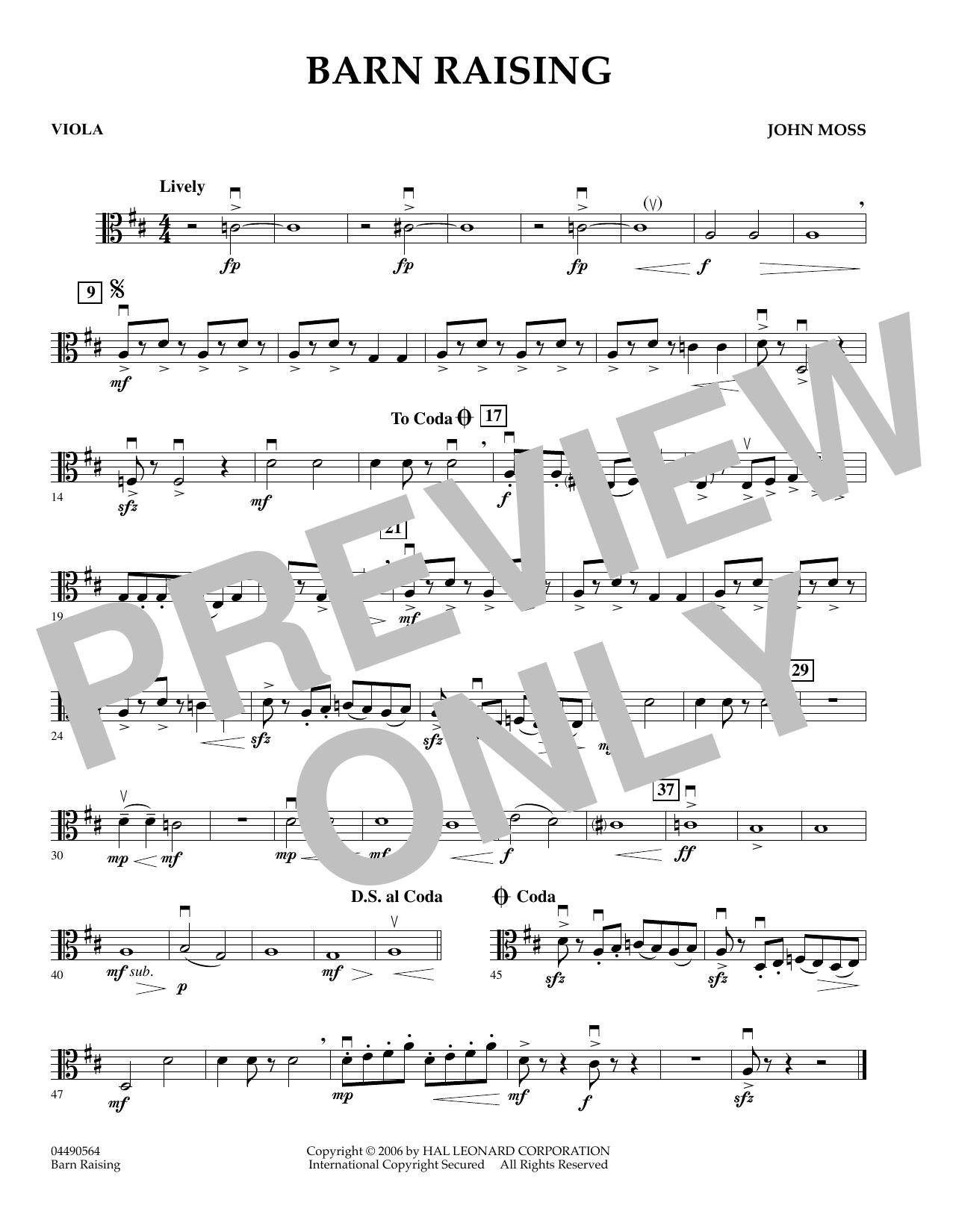 Barn Raising - Viola (Orchestra)