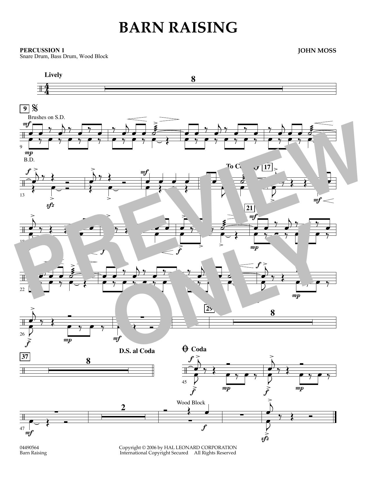 Barn Raising - Percussion 2 (Orchestra)