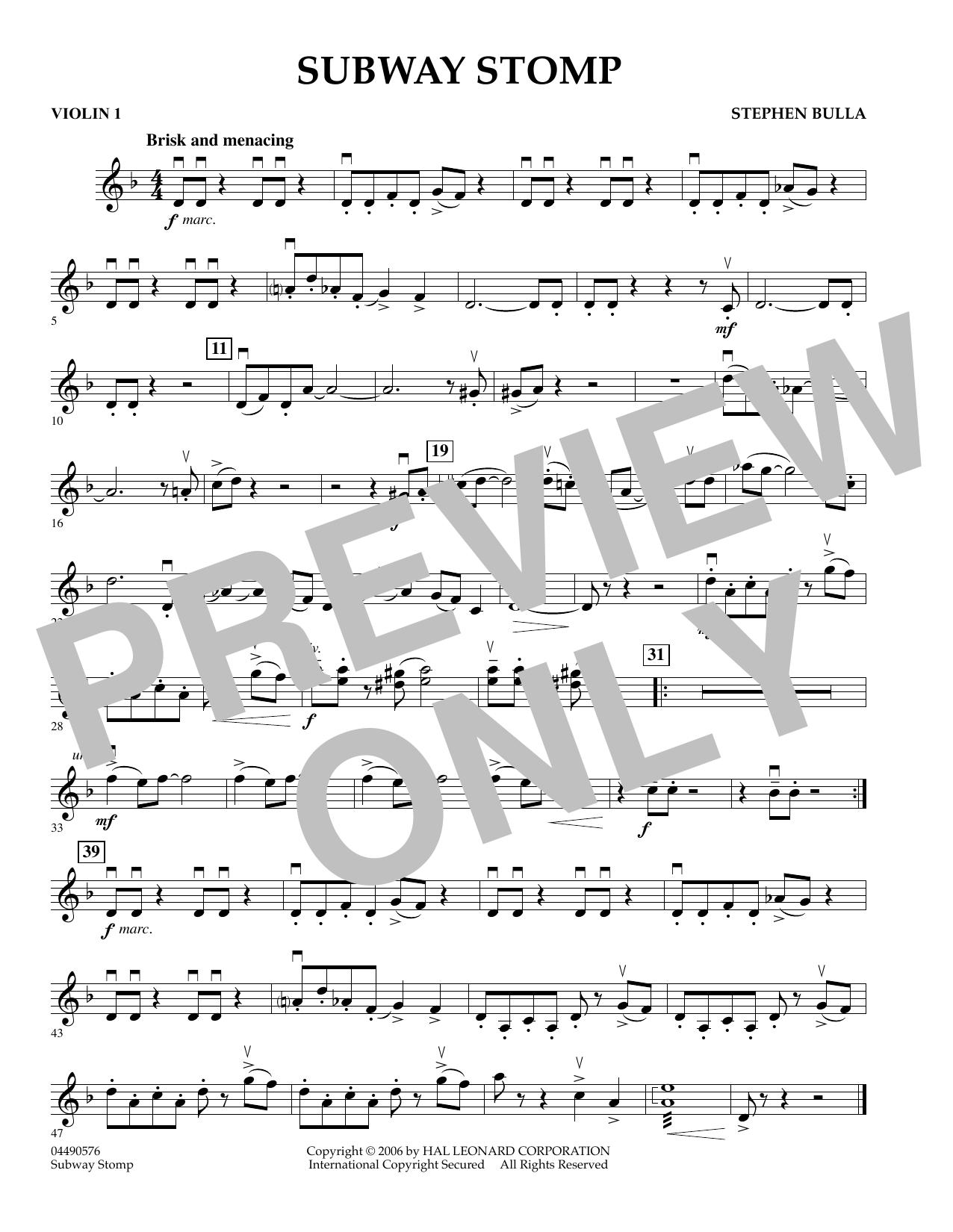 Subway Stomp - Violin 1 (Orchestra)